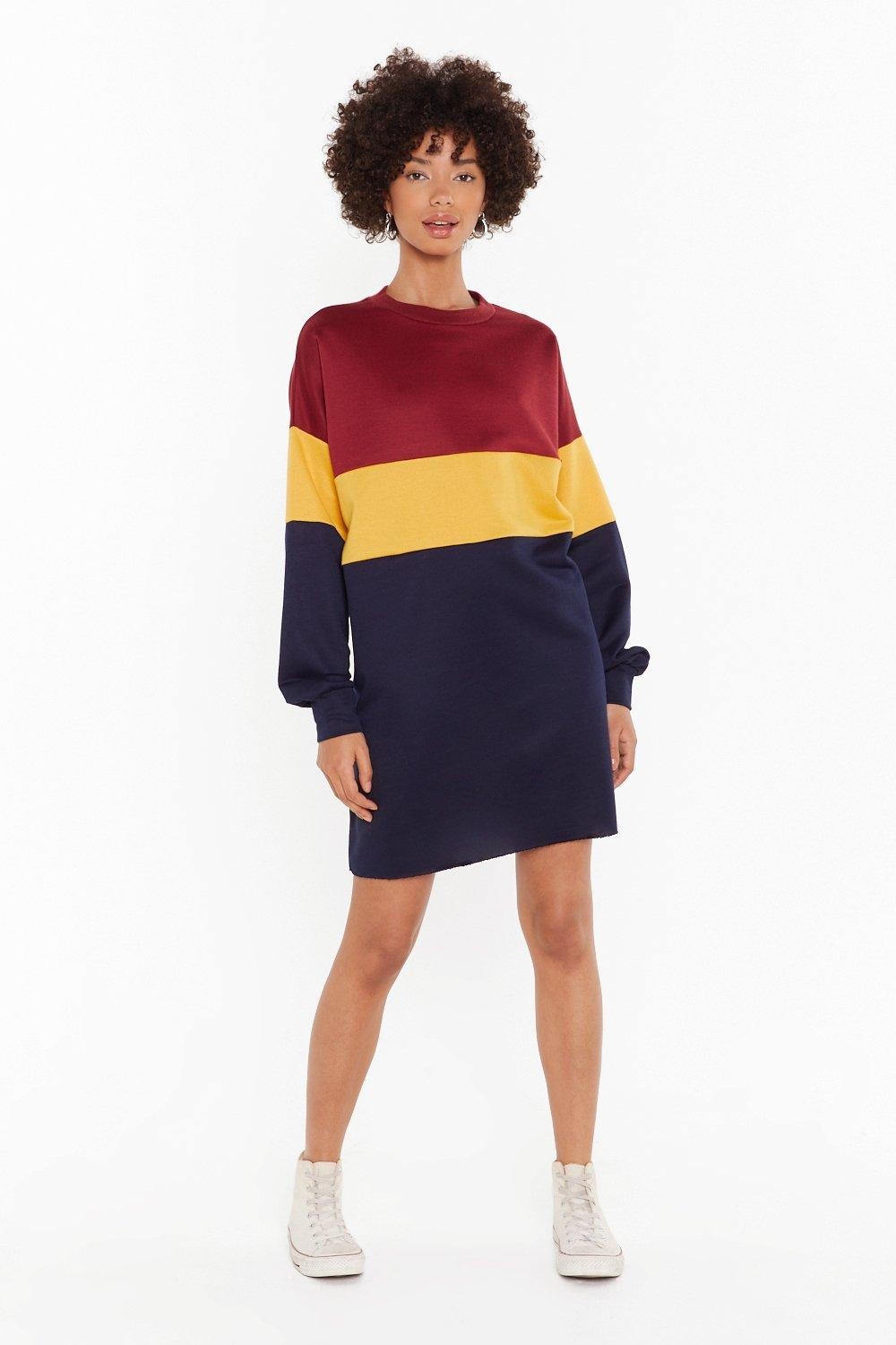 Image of Colorblock the Haters Knit Mini Dress
