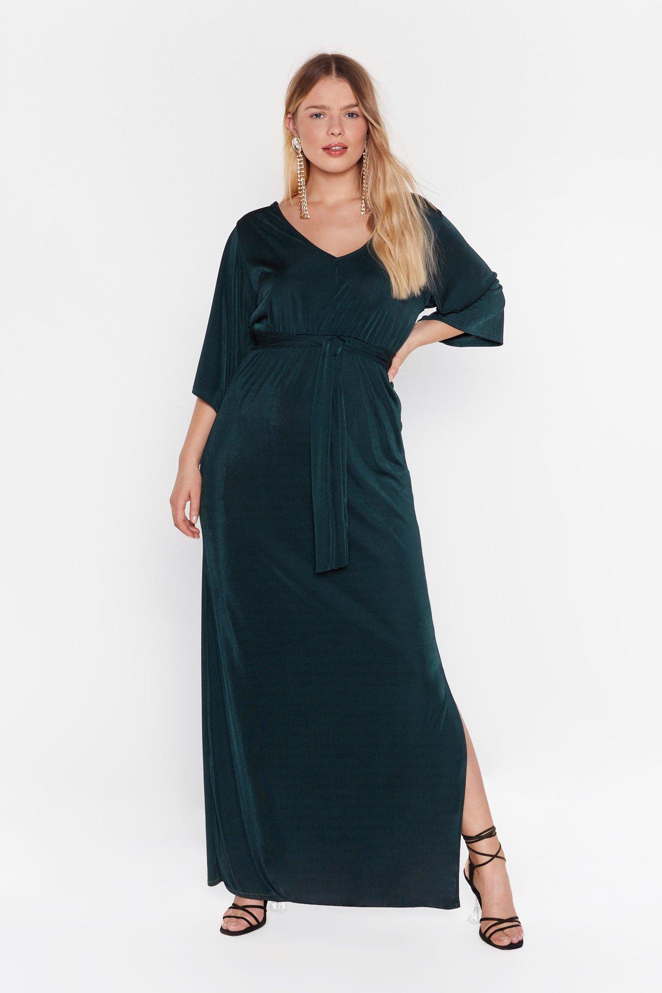 Image of Slit's a Close Call Plus Maxi Dress