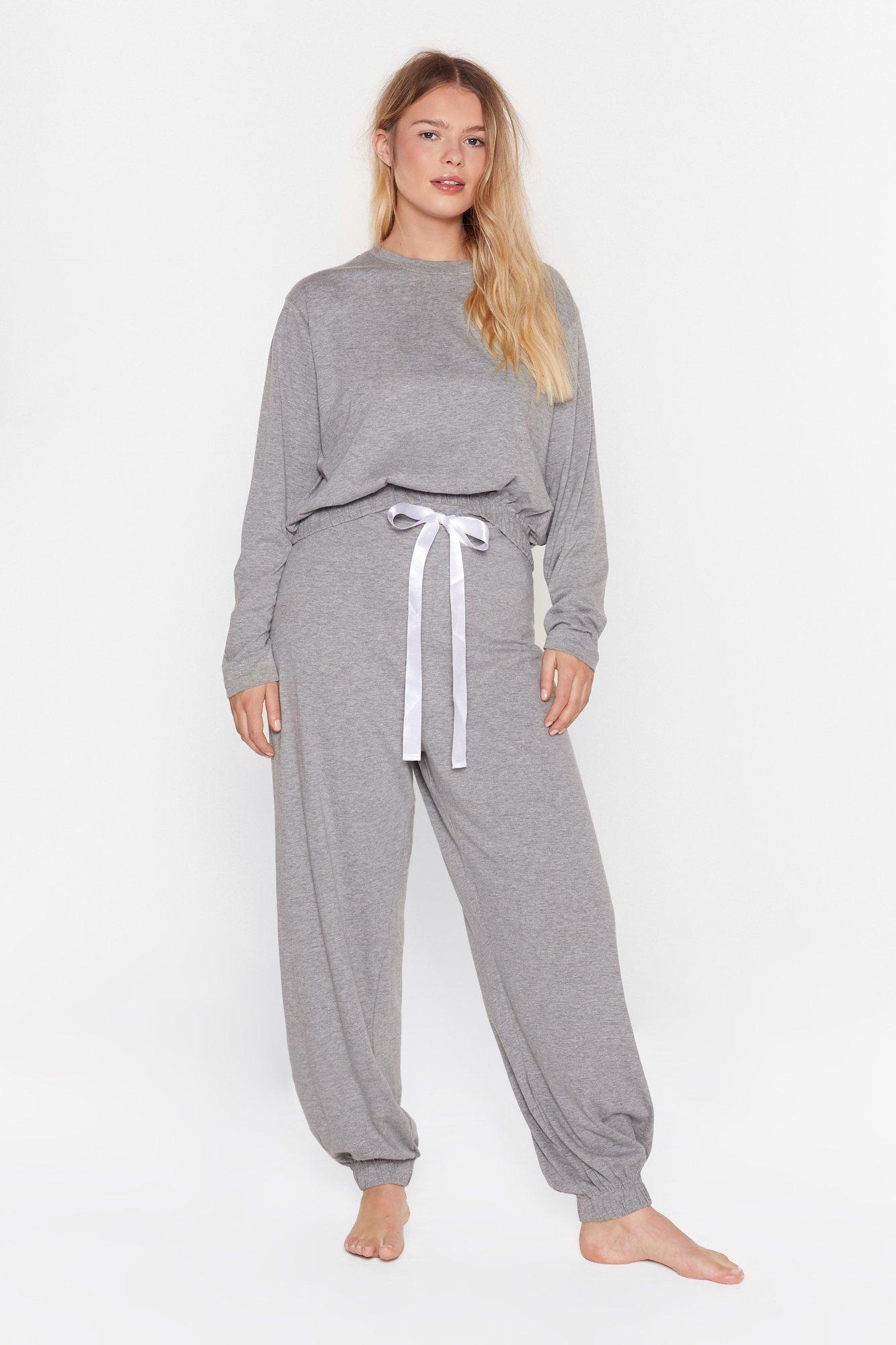 Image of Not a Care in the World Plus Jogger Lounge Set