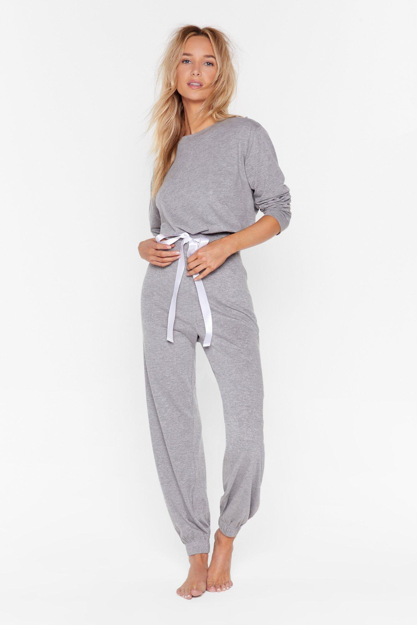 Image of Time to Chill Sweater and Joggers Lounge Set