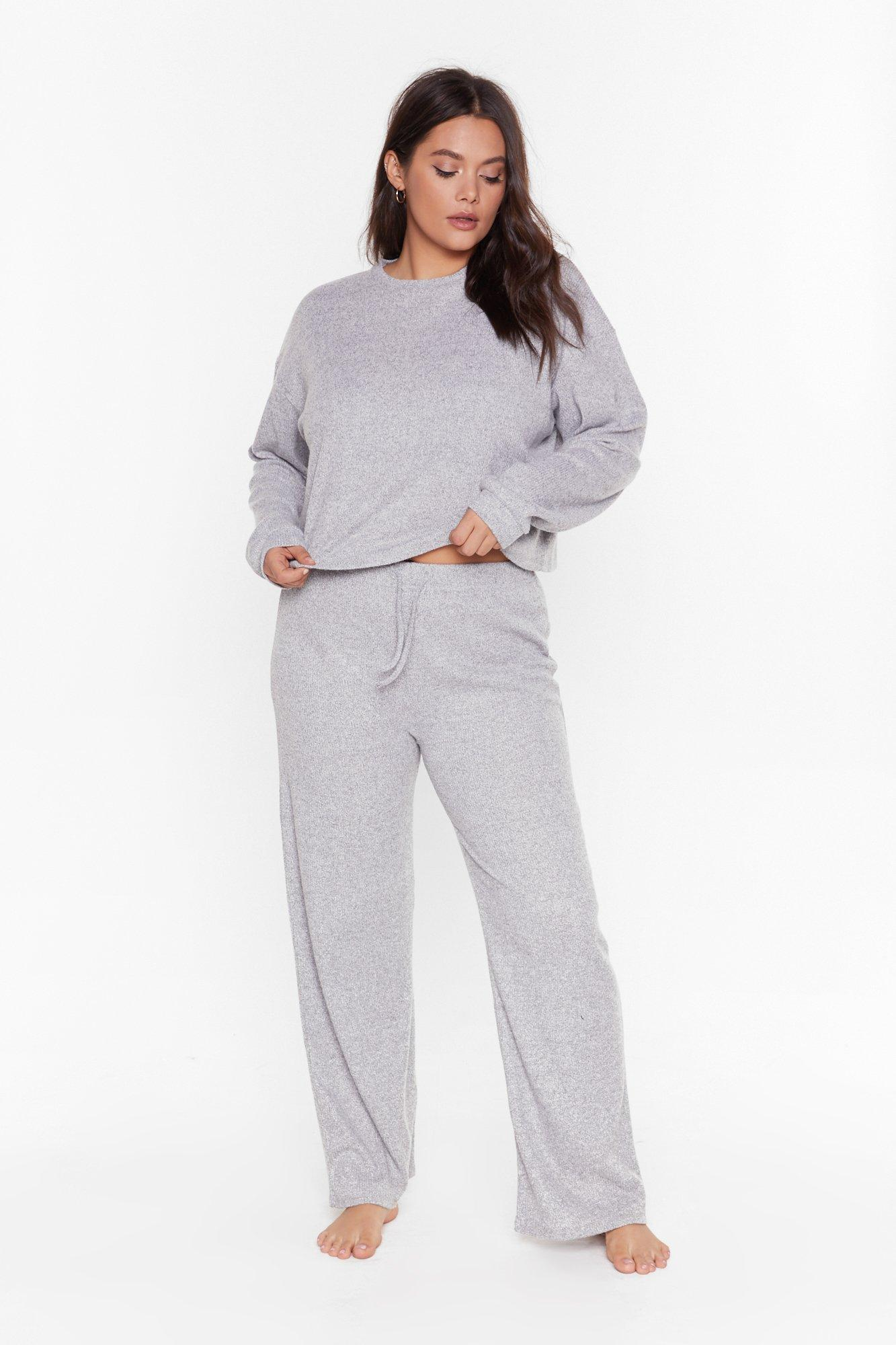 Image of Rib and Repeat Knit Plus Lounge Set
