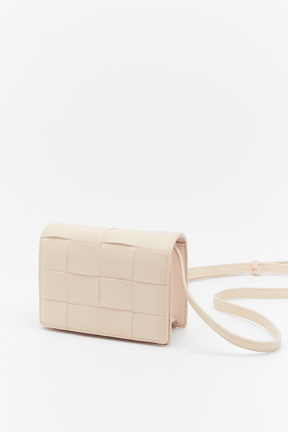 Image of WANT You've Been Woven Faux Leather Bag