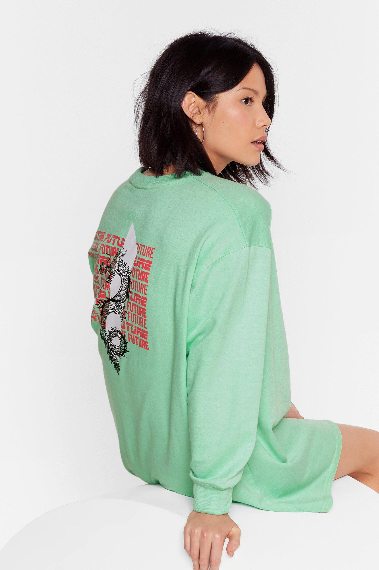 Image of Time Well Serpent Graphic Sweatshirt Dress