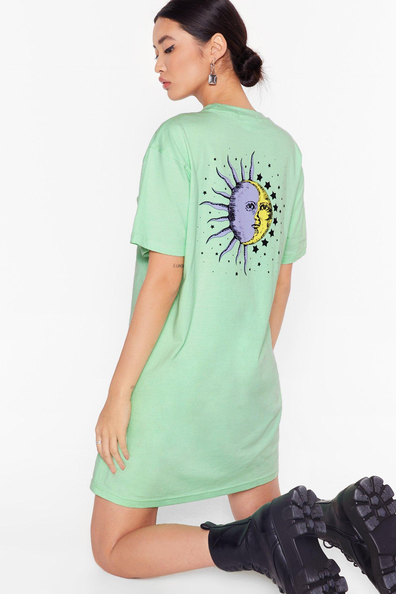 Image of To the Moon and Back Graphic Tee Dress
