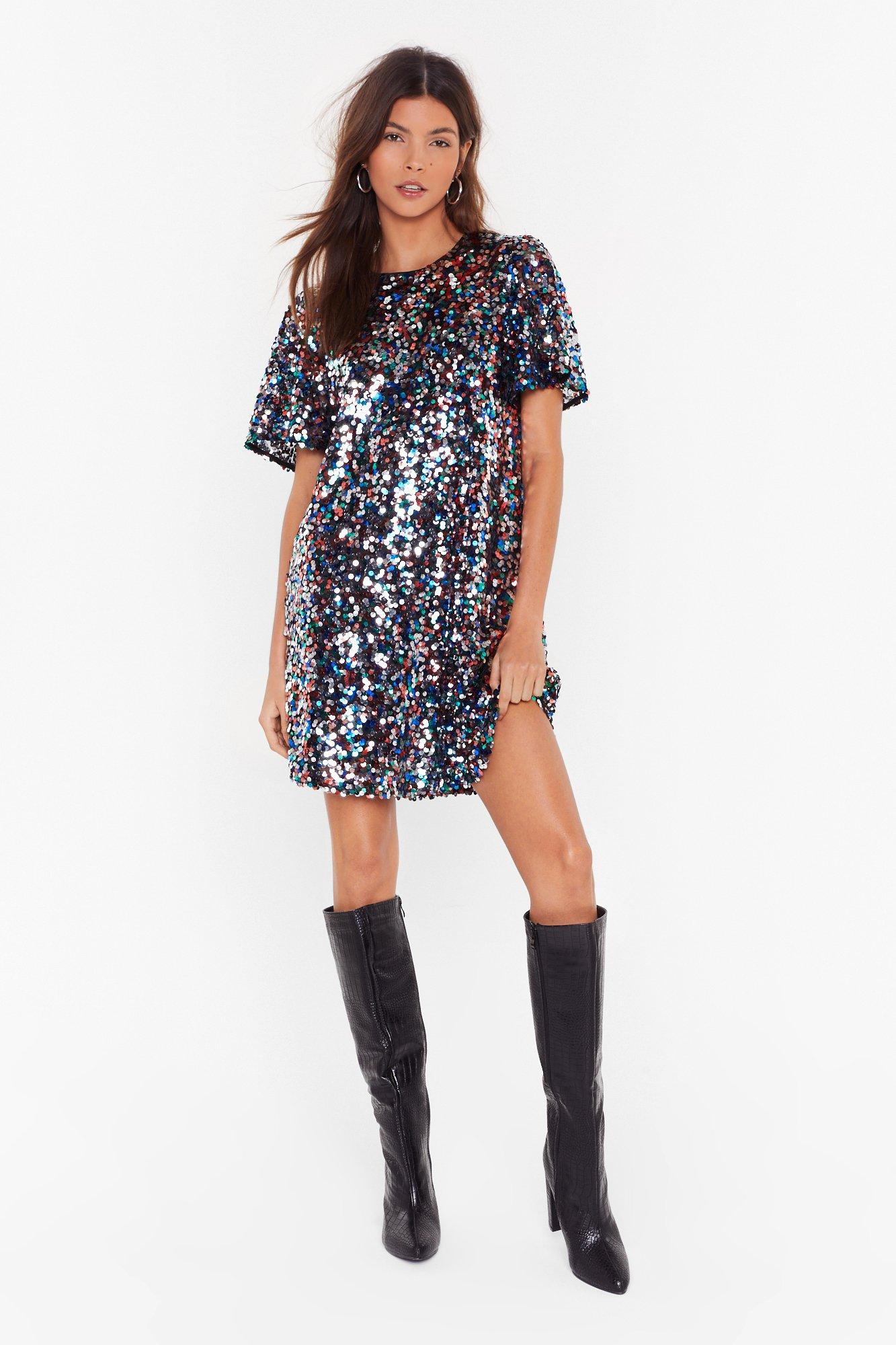 Image of Give Me the Night Sequin Mini Dress