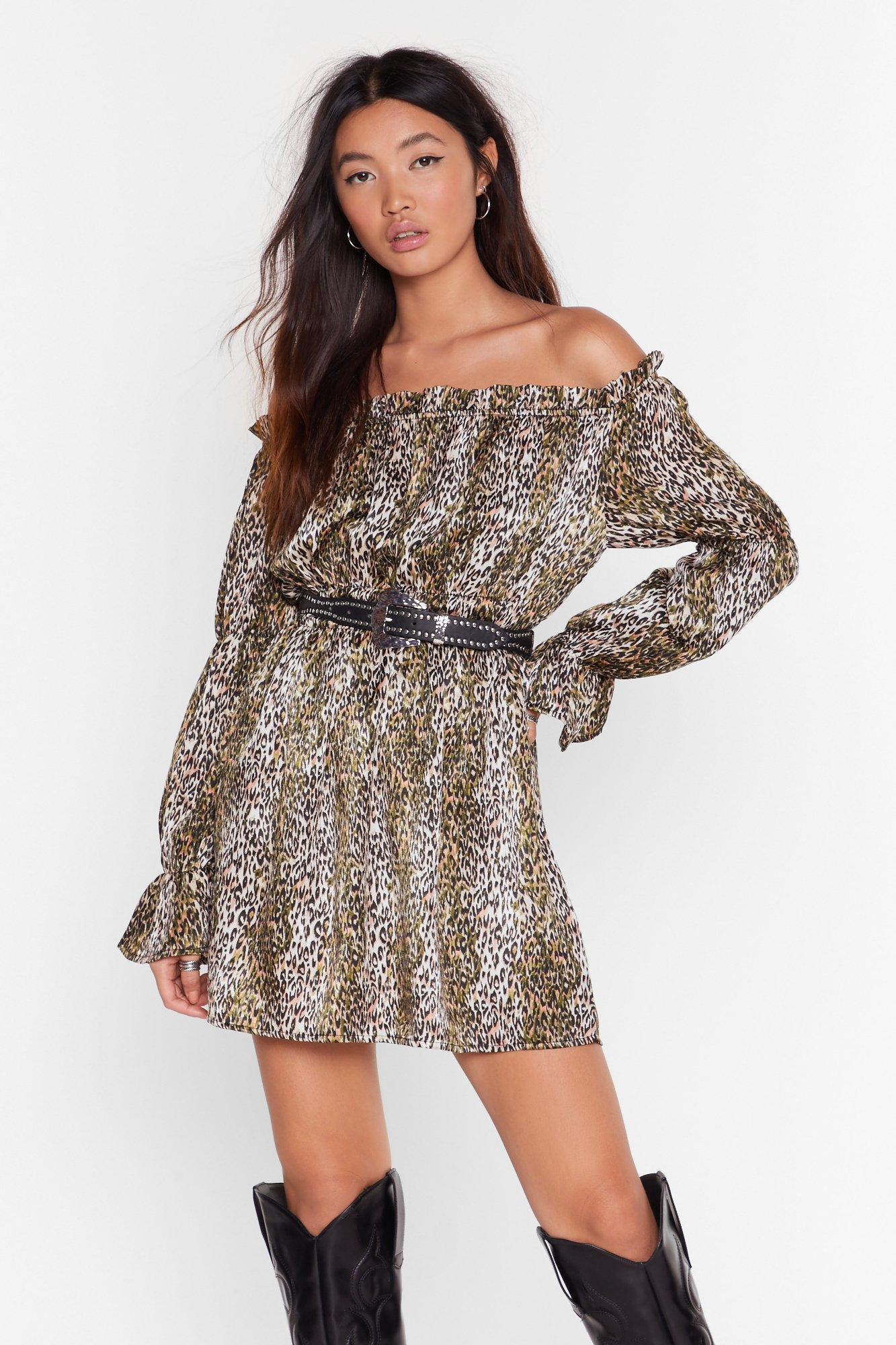 Image of Wild Awake Leopard Mini Dress