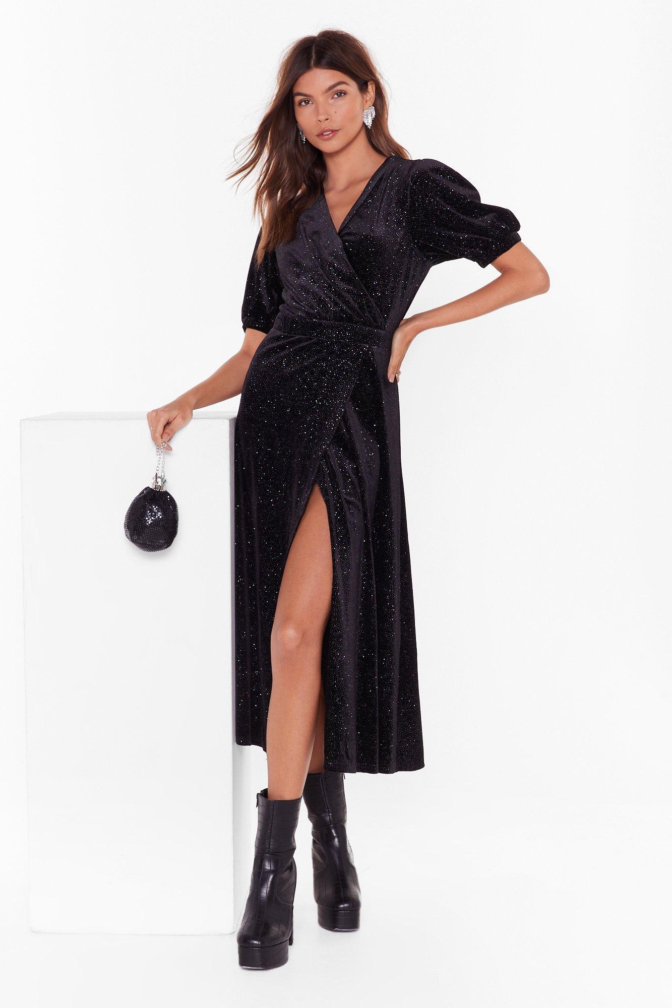 Image of Shine After Shine Velvet Midi Dress