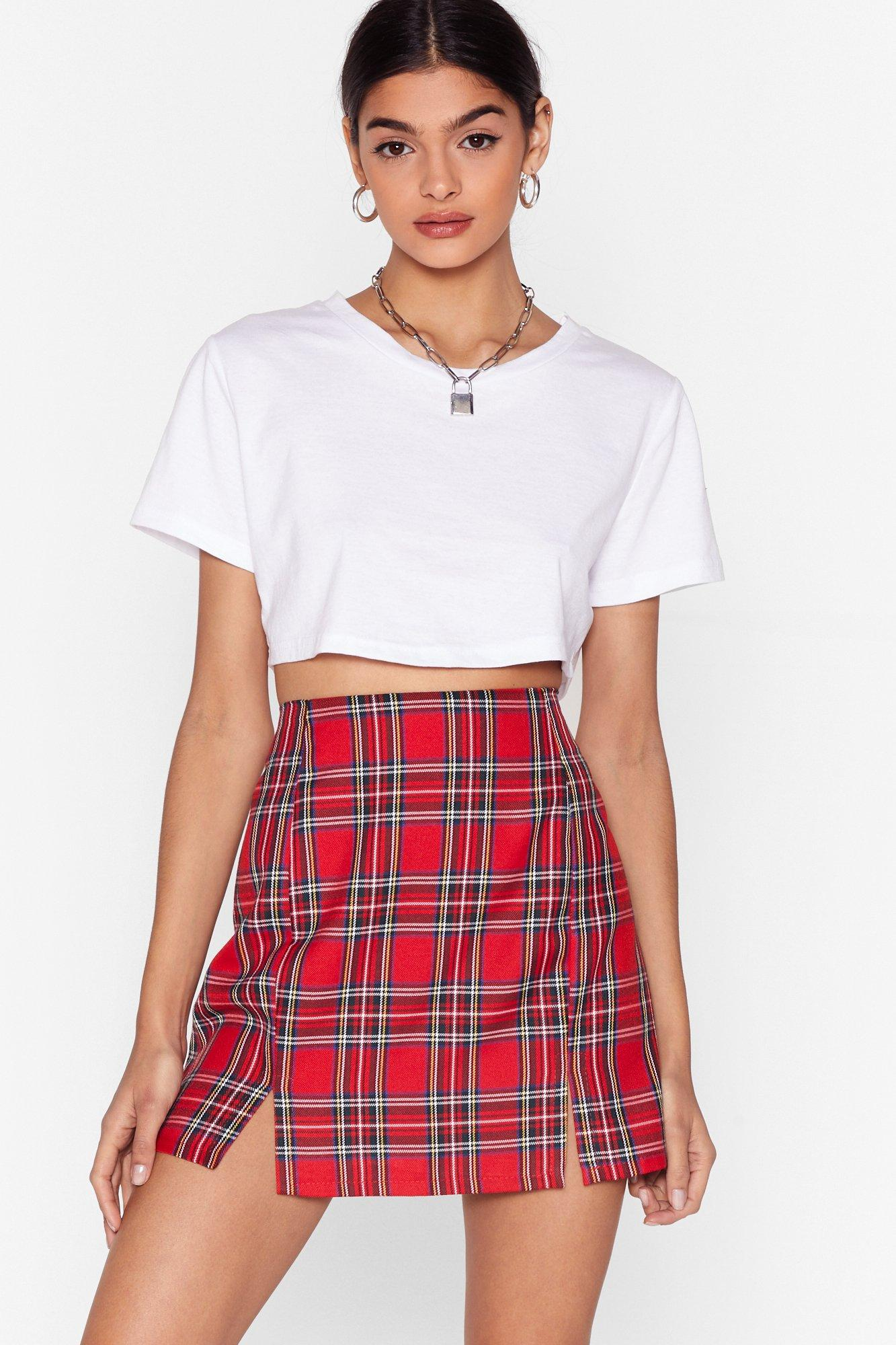 Image of Tartan as We Mean to Go On Mini Skirt