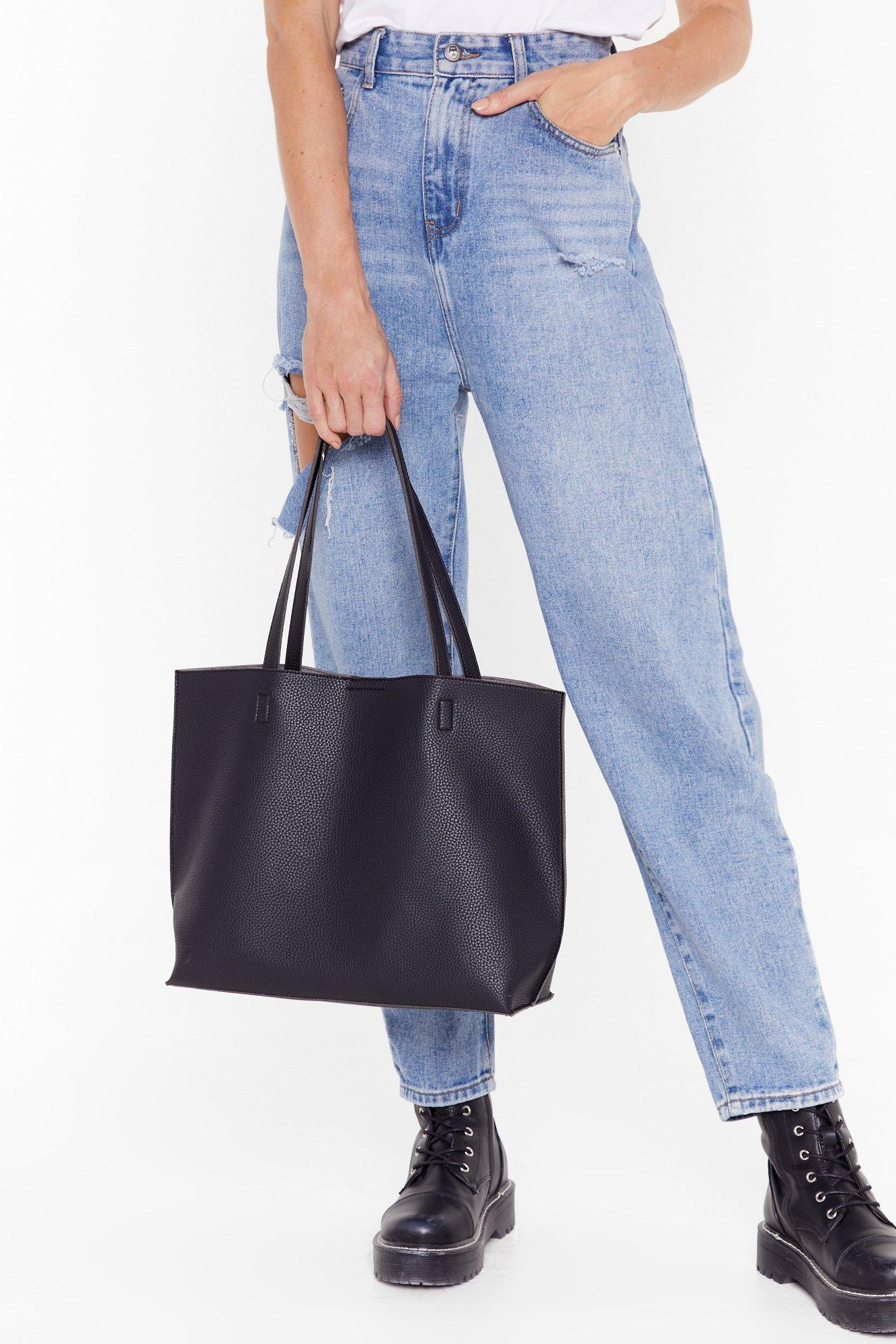 Image of WANT Hold Your Own Faux Leather Tote Bag
