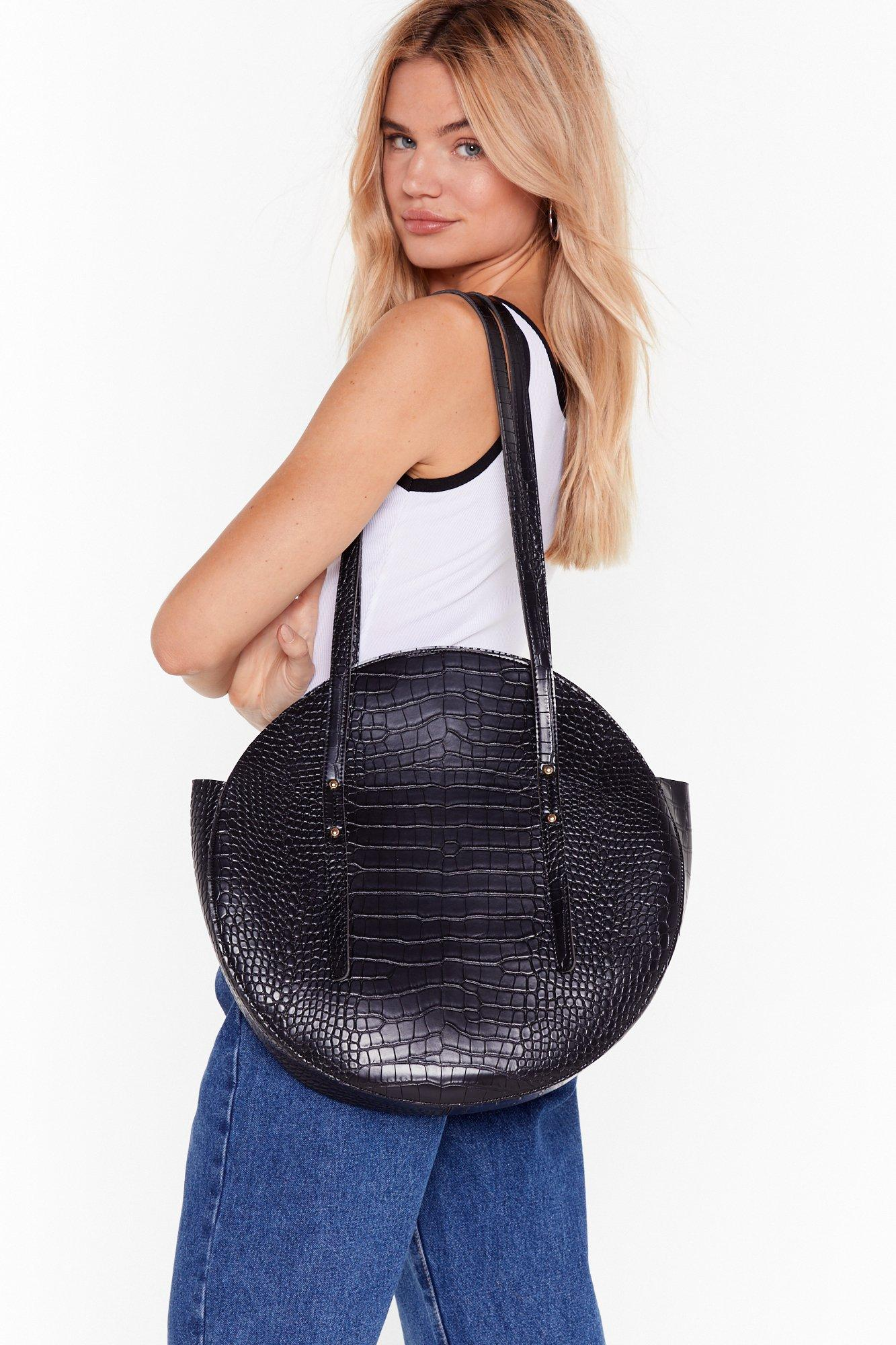 Image of WANT Goin' Round in Circles Croc Tote Bag