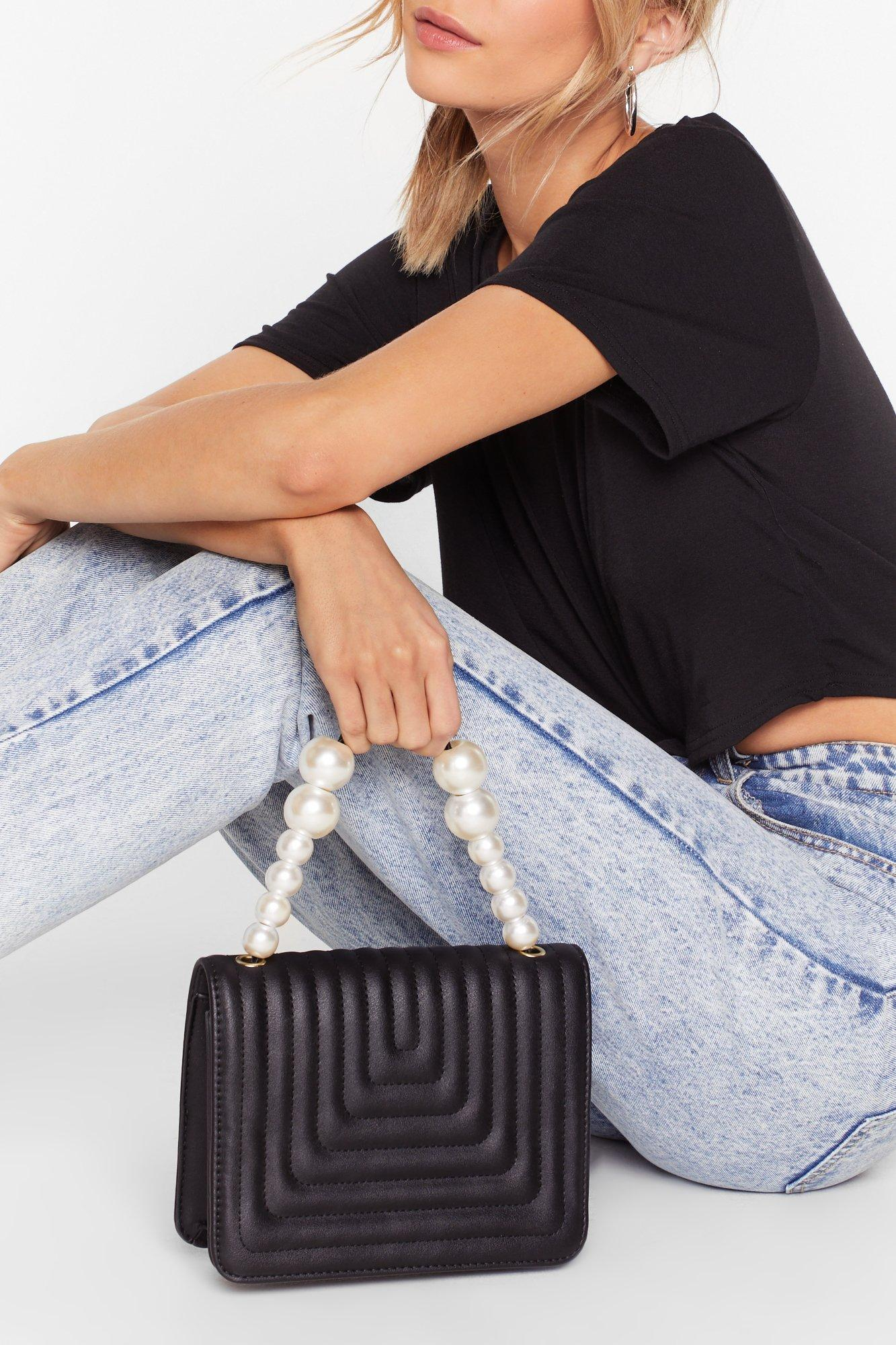 Image of WANT Hey Pearl Faux Leather Crossbody Bag