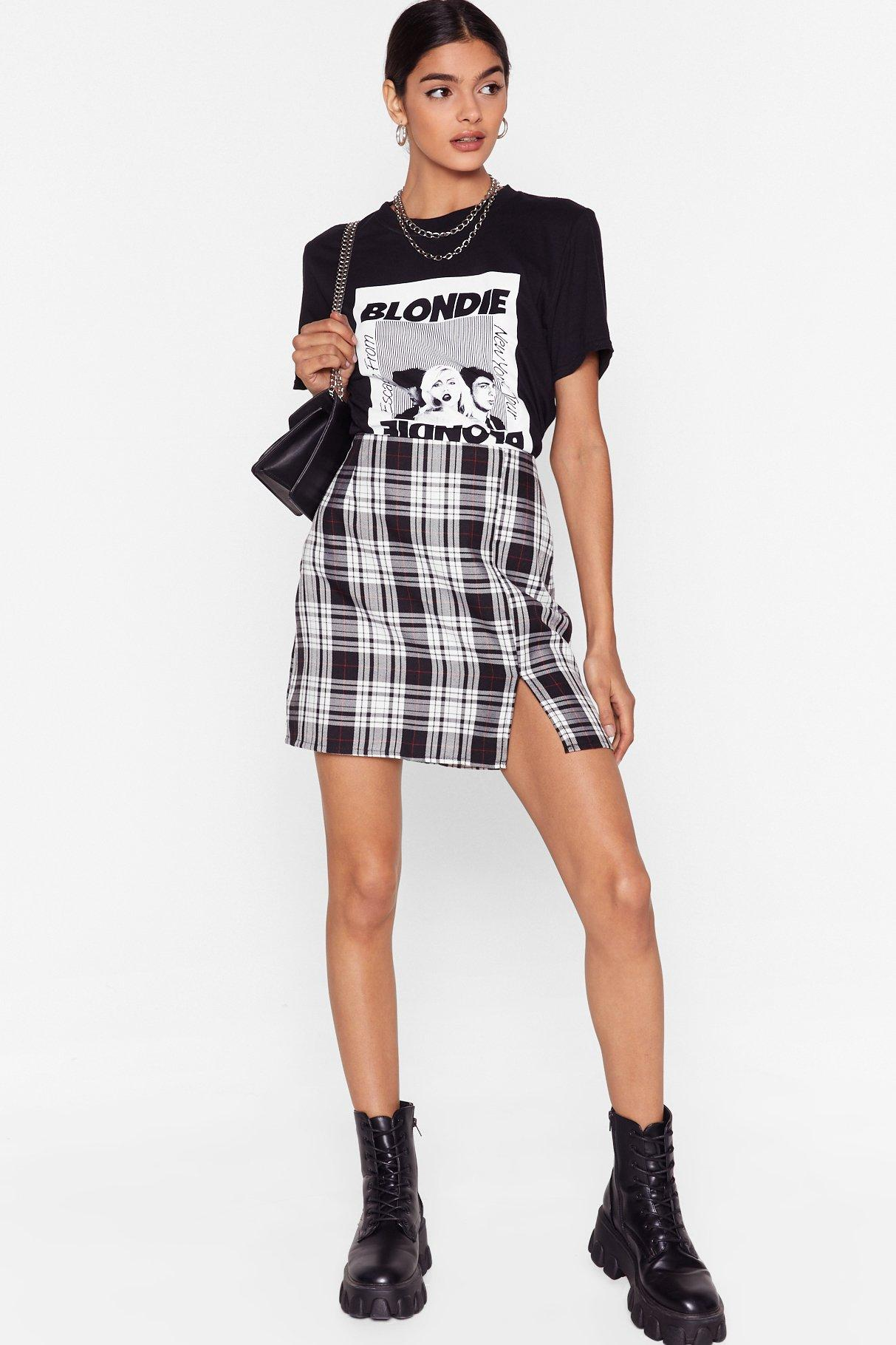Image of Grid the Right Thing Check Mini Skirt