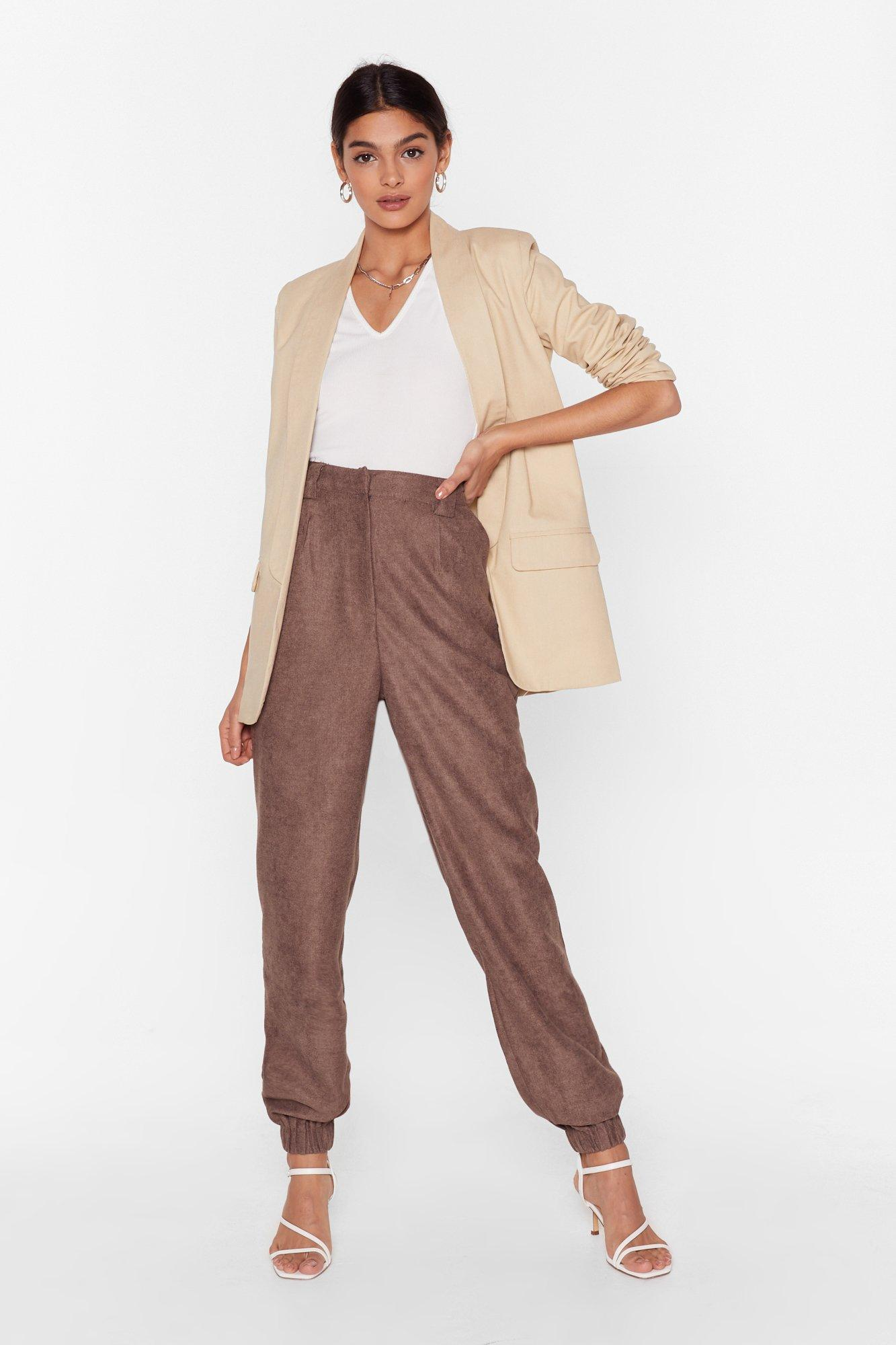 Image of Get to the Bottom of It High-Waisted Tapered Pants