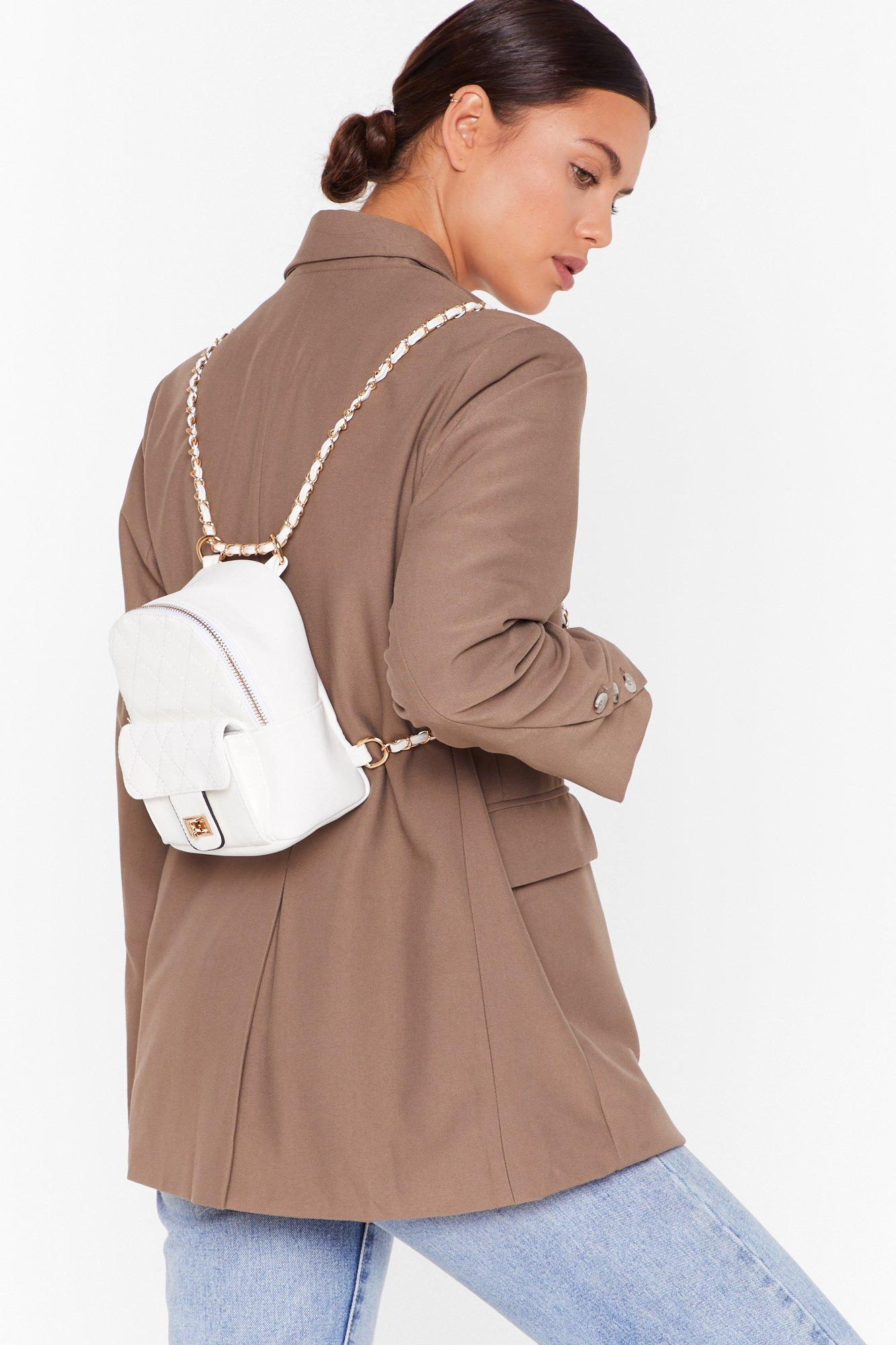 Image of WANT No Quilt Faux Leather Backpack