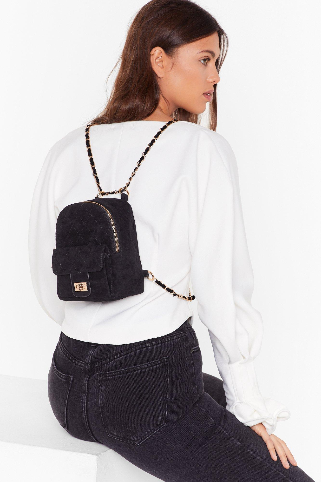 Image of WANT Get in Touch Velvet Backpack