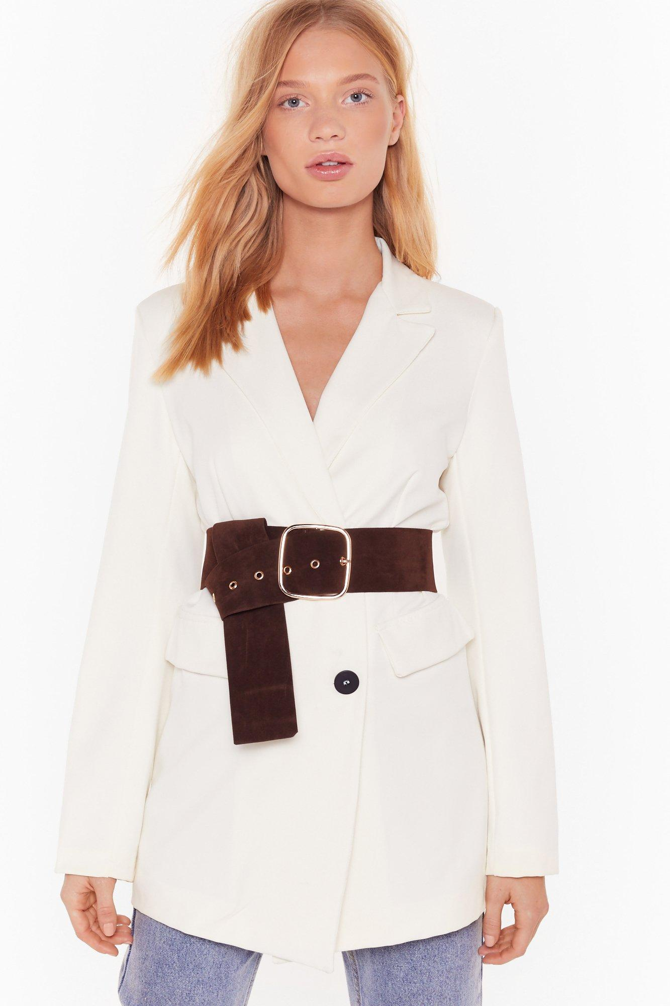 Image of Faux Suede My Mind Up Oversized Belt