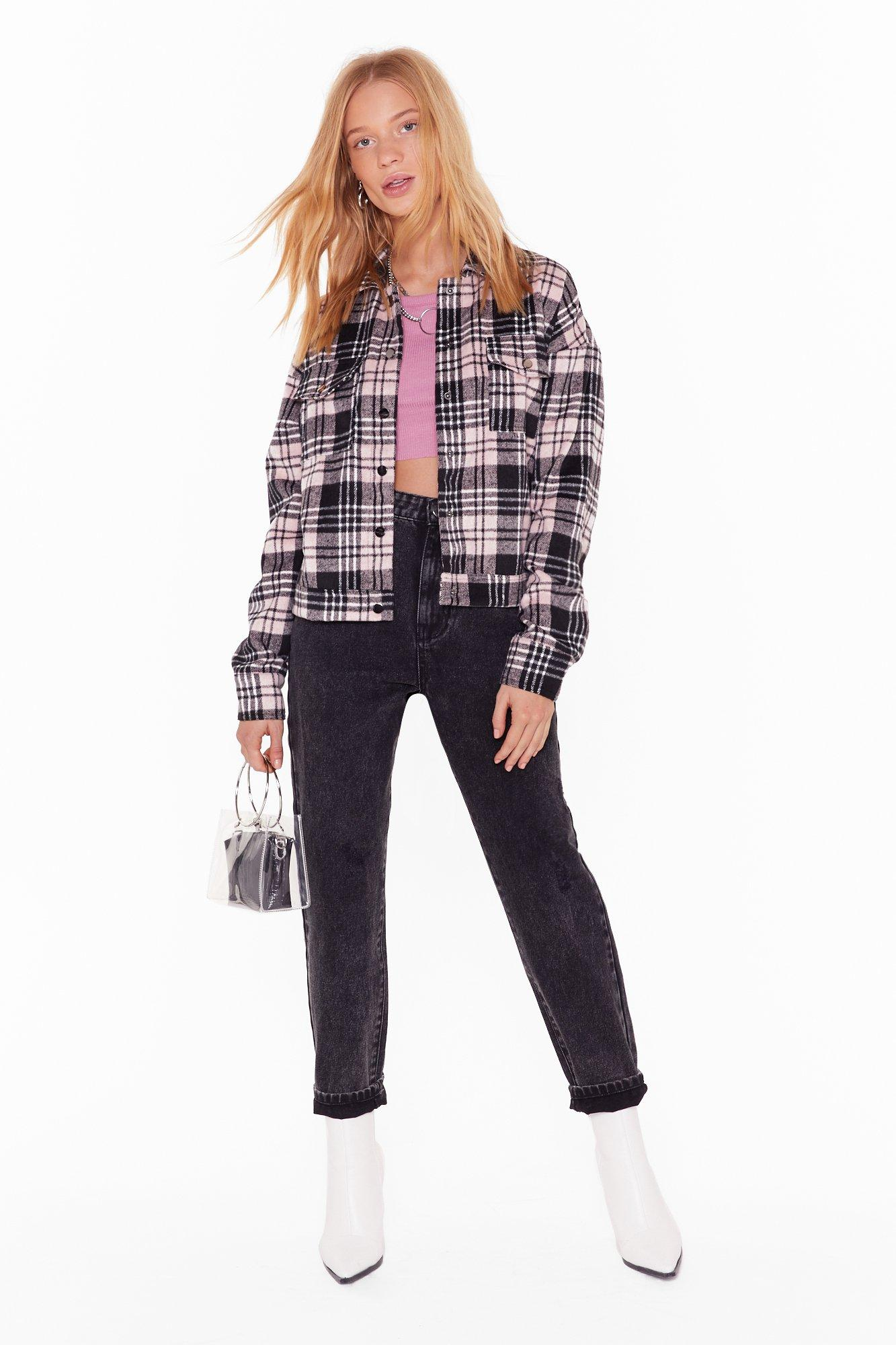 Image of All Plaid Out Well Shirt Jacket