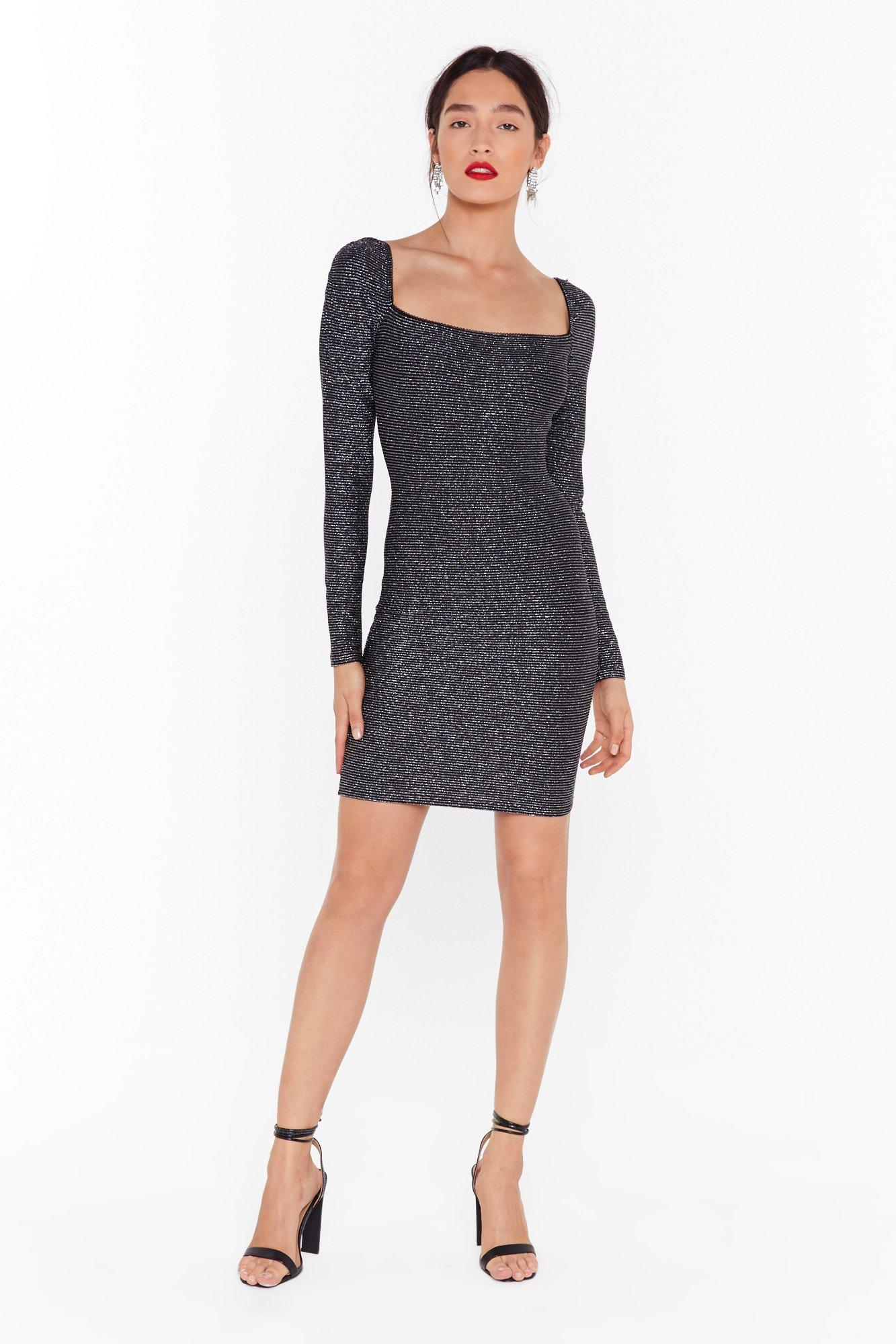 Image of Onto a Shimmer Glitter Mini Dress