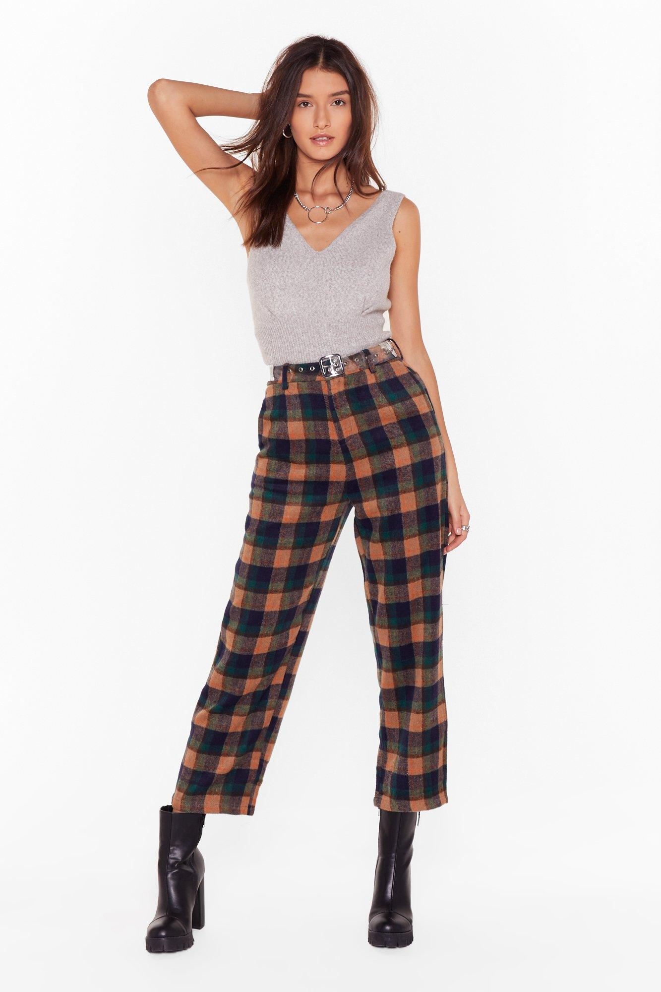 Image of Checking in On You High-Waisted Tapered Pants