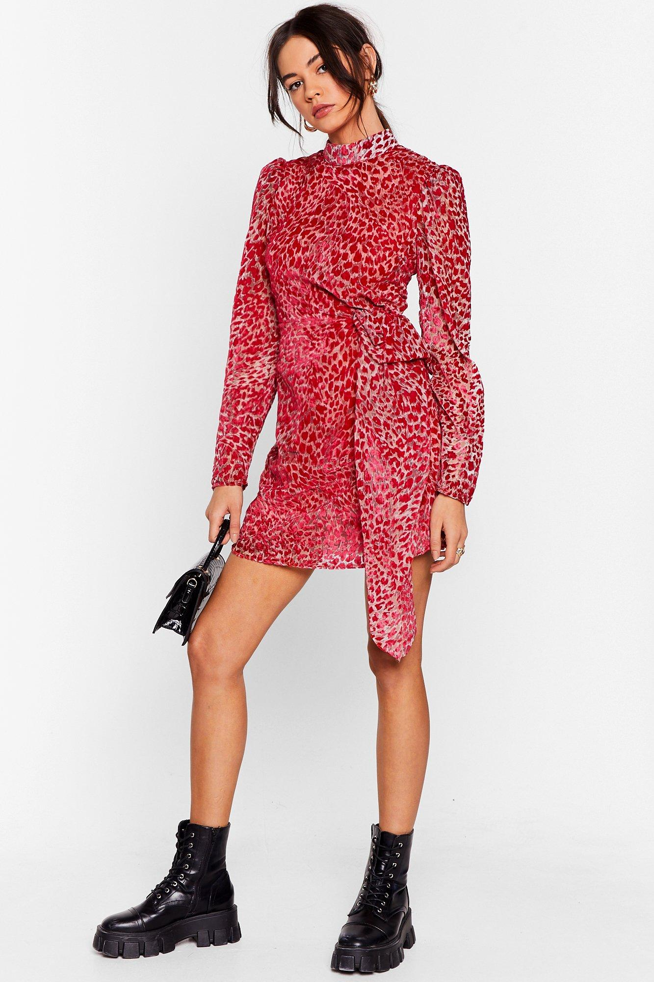 Image of Wild About It Leopard Mini Dress