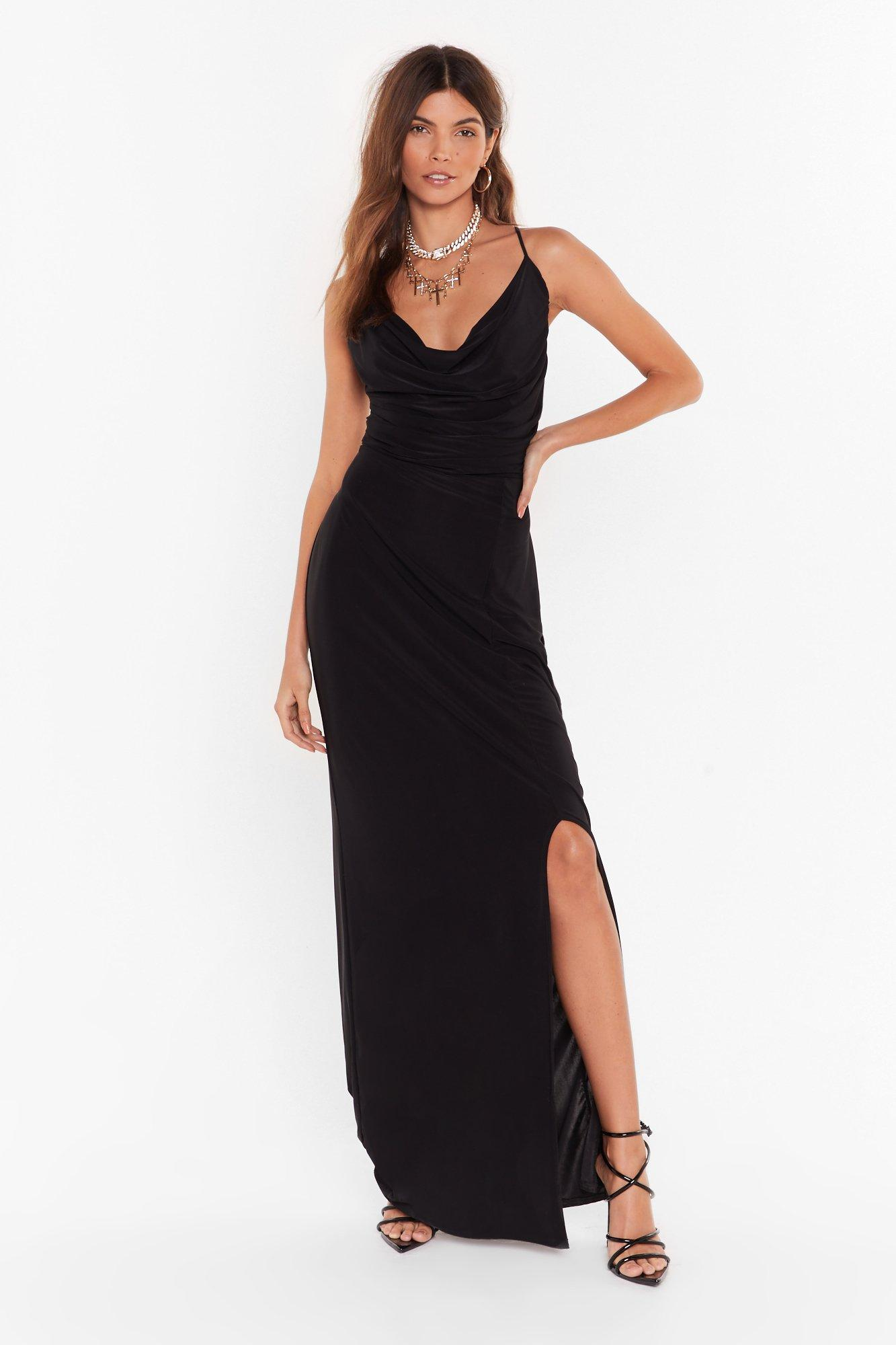 Image of Seen You a Cowl Maxi Dress