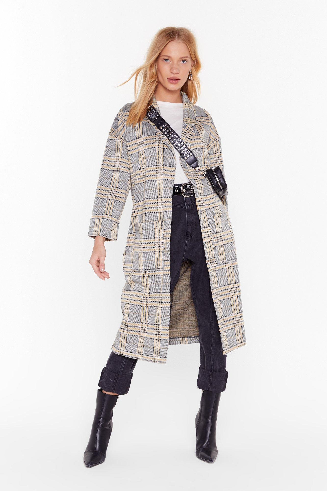 Image of Let's Check It Out Trench Coat