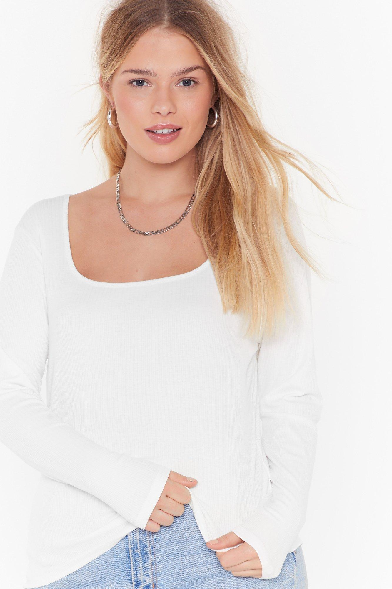 Image of Get Those Angles Square Neck Top