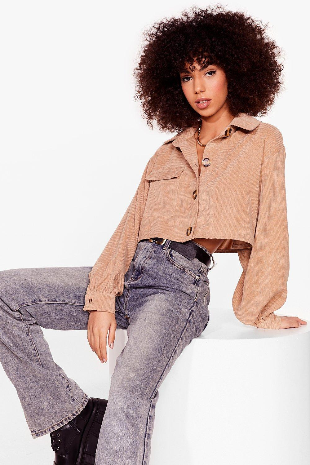 Image of Crop and Listen Corduroy Shirt