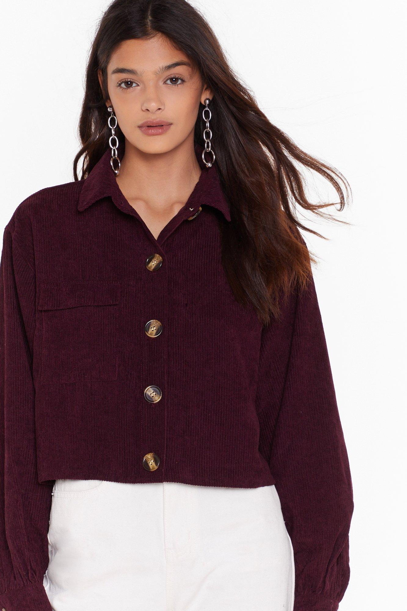 Image of Just Can't Crop Corduroy Shirt