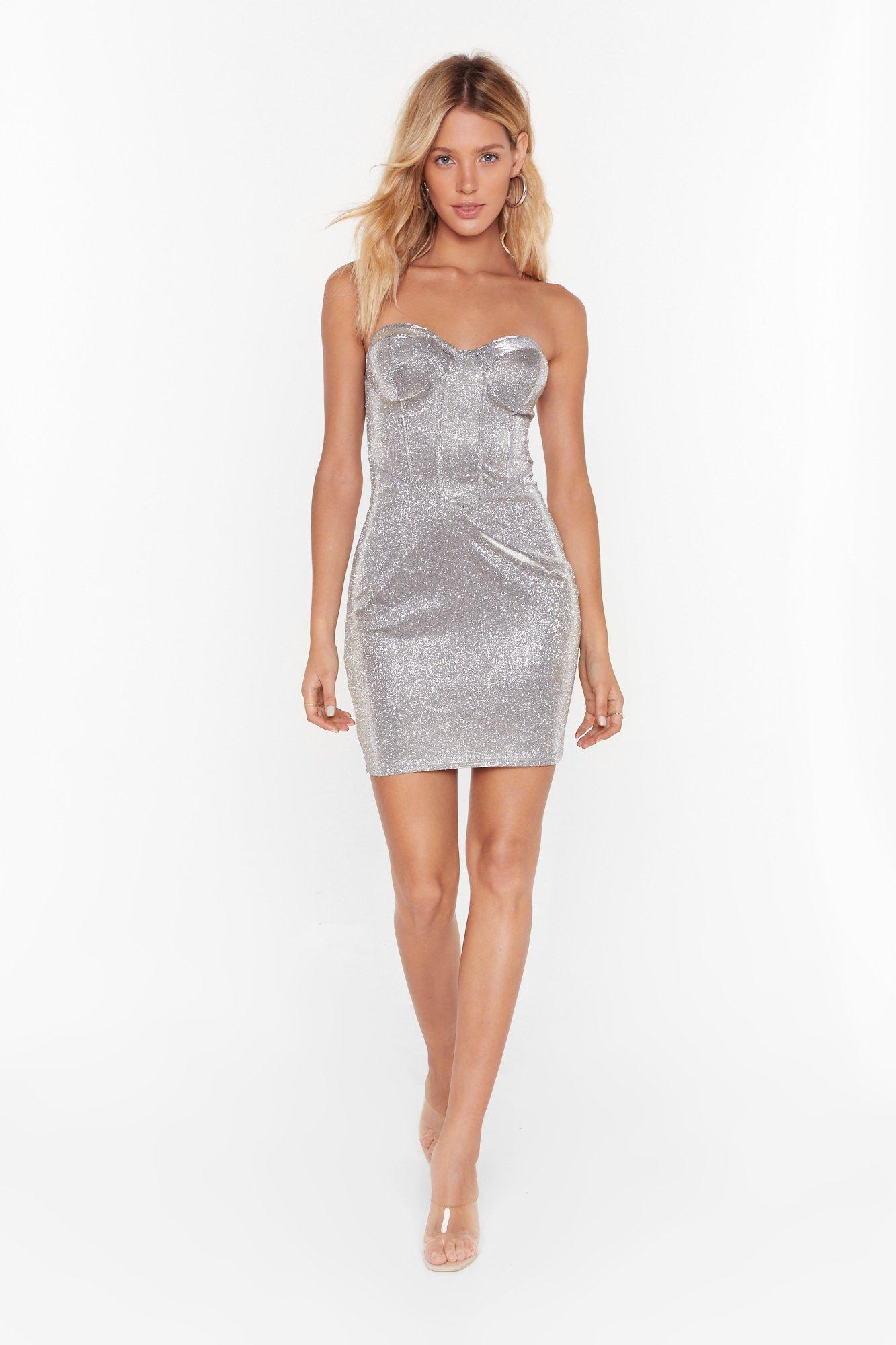 Image of My Mind's Corset On You Glitter Mini Dress