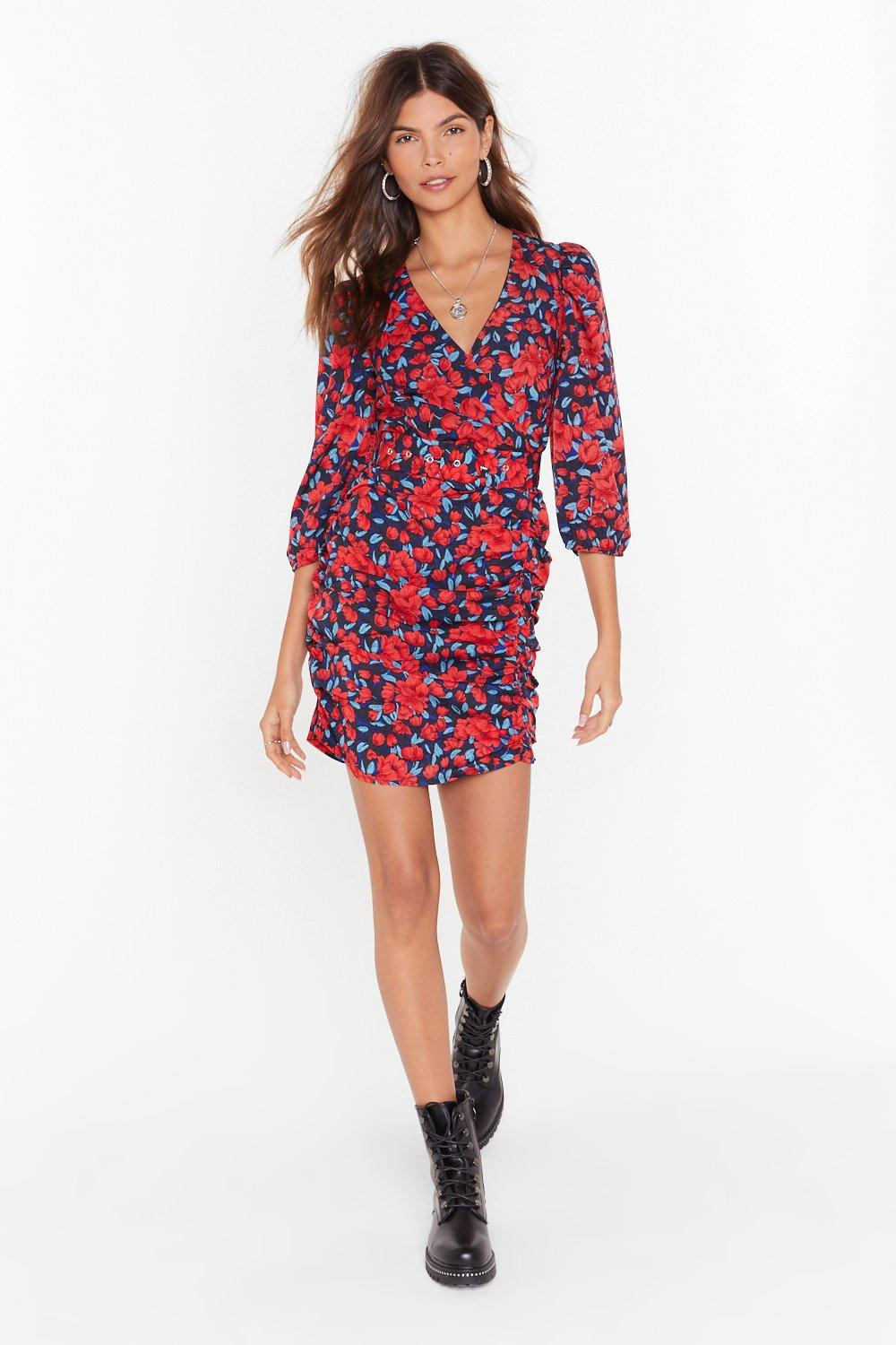 Image of You Gotta Let It Grow Floral Midi Dress