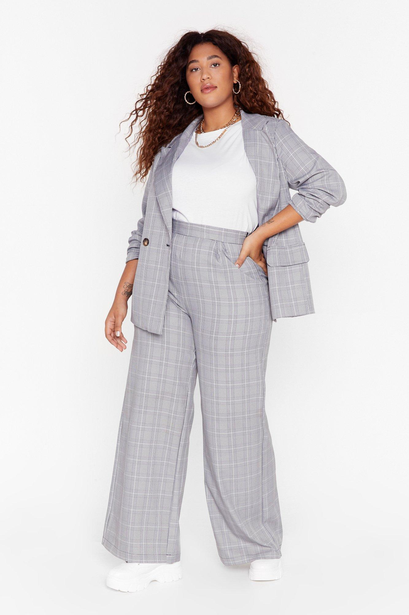 Image of Not At Your Check and Call Plus Wide-Leg Pants