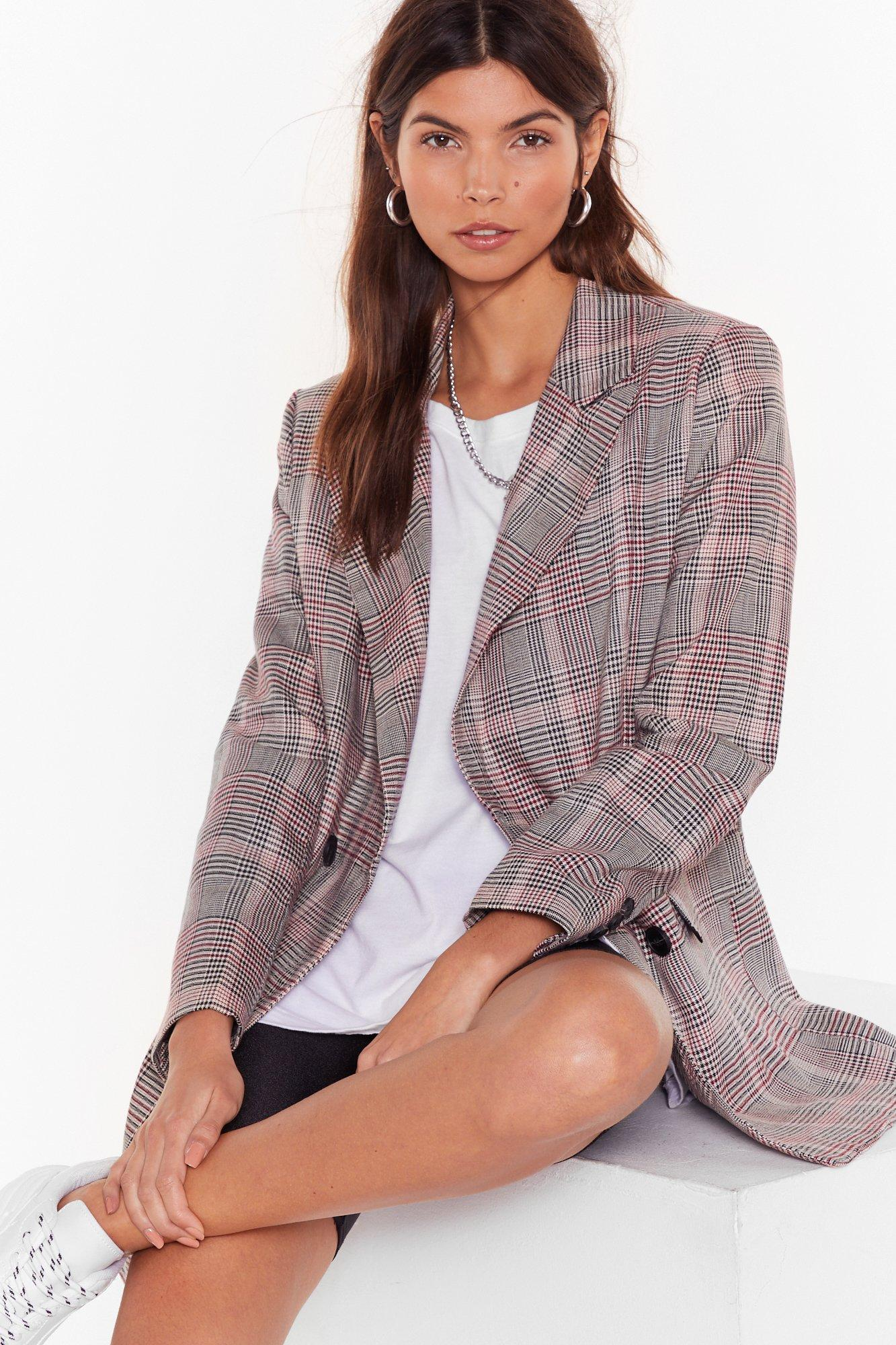 Image of Check Over It Overiszed Blazer
