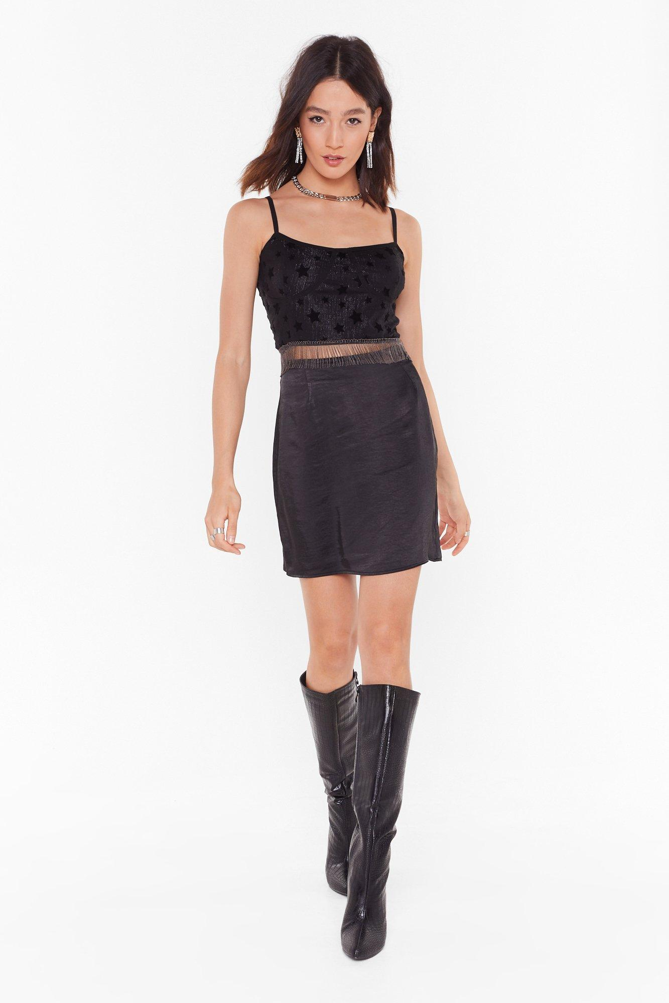 Image of Smooth That Out Satin High-Waisted Mini Skirt