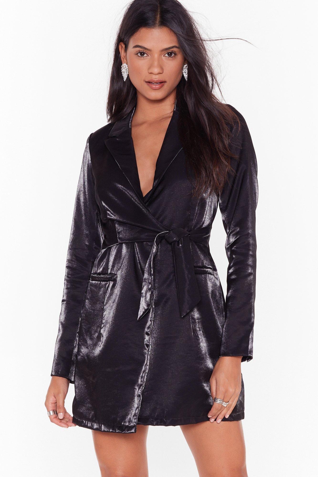 Image of Doin' Just Shine Belted Blazer Dress