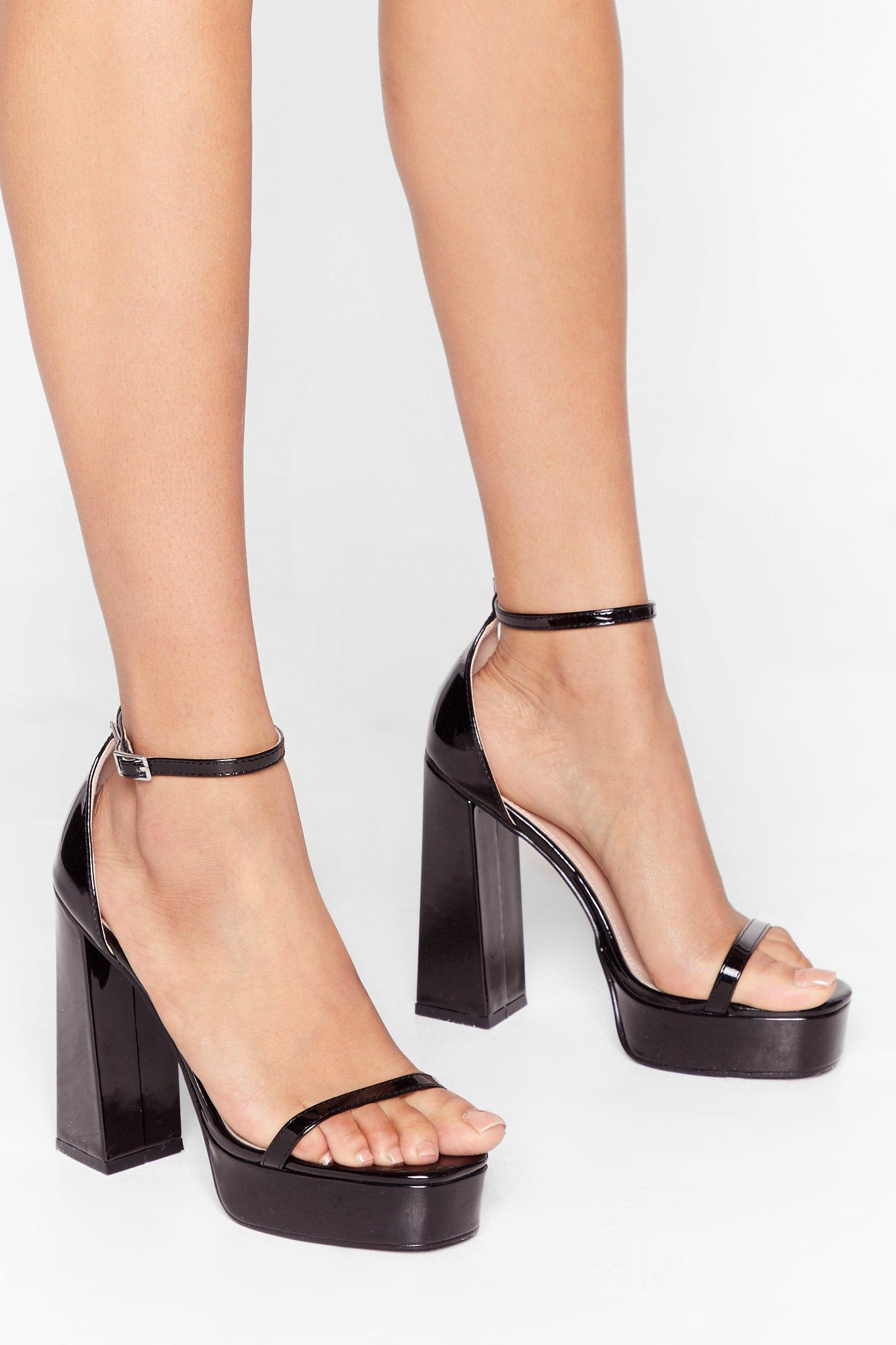 Image of Gimme a Boost Patent Platform Heels