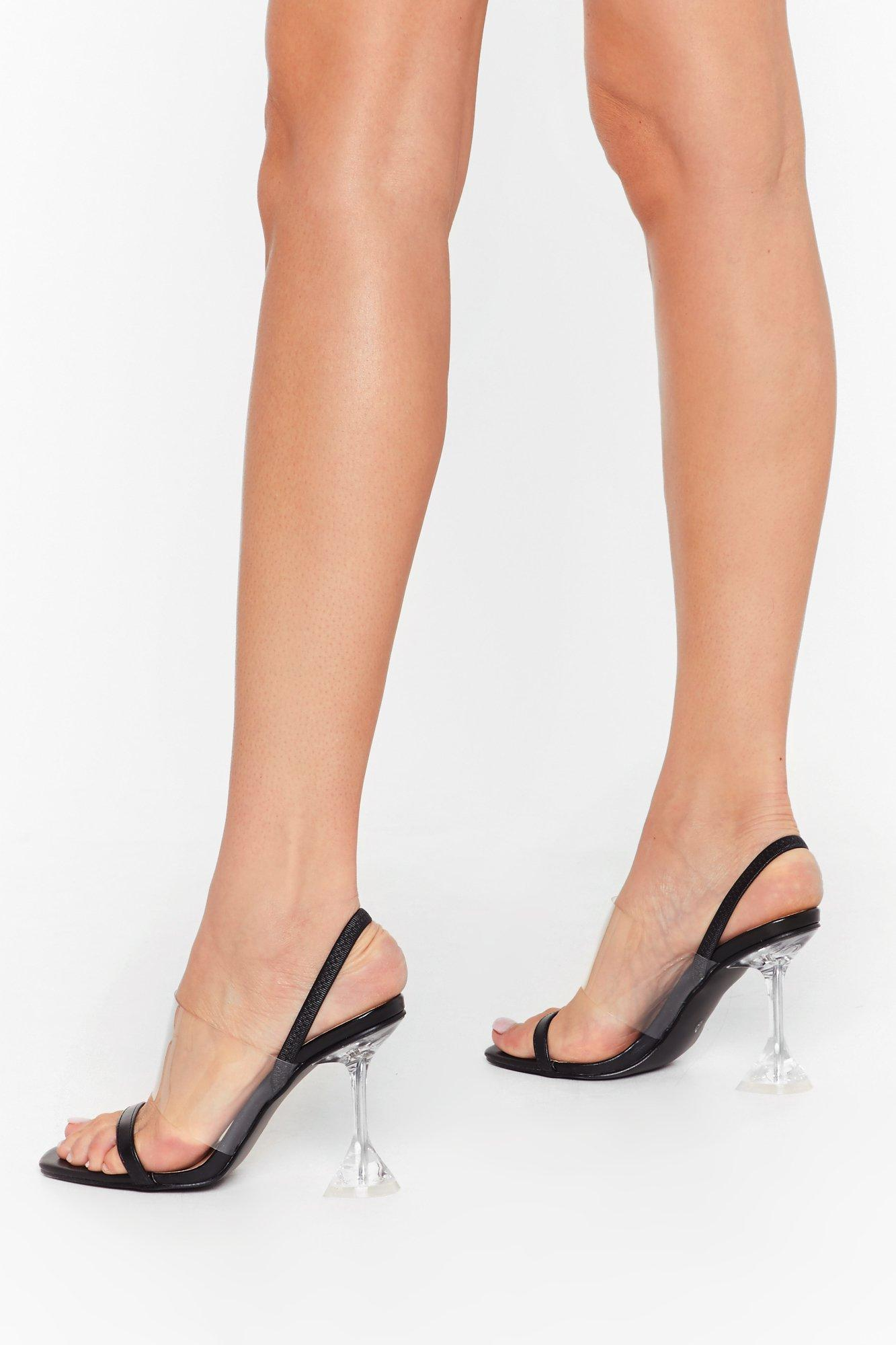 Image of Clears to Us Strappy Stiletto Heels