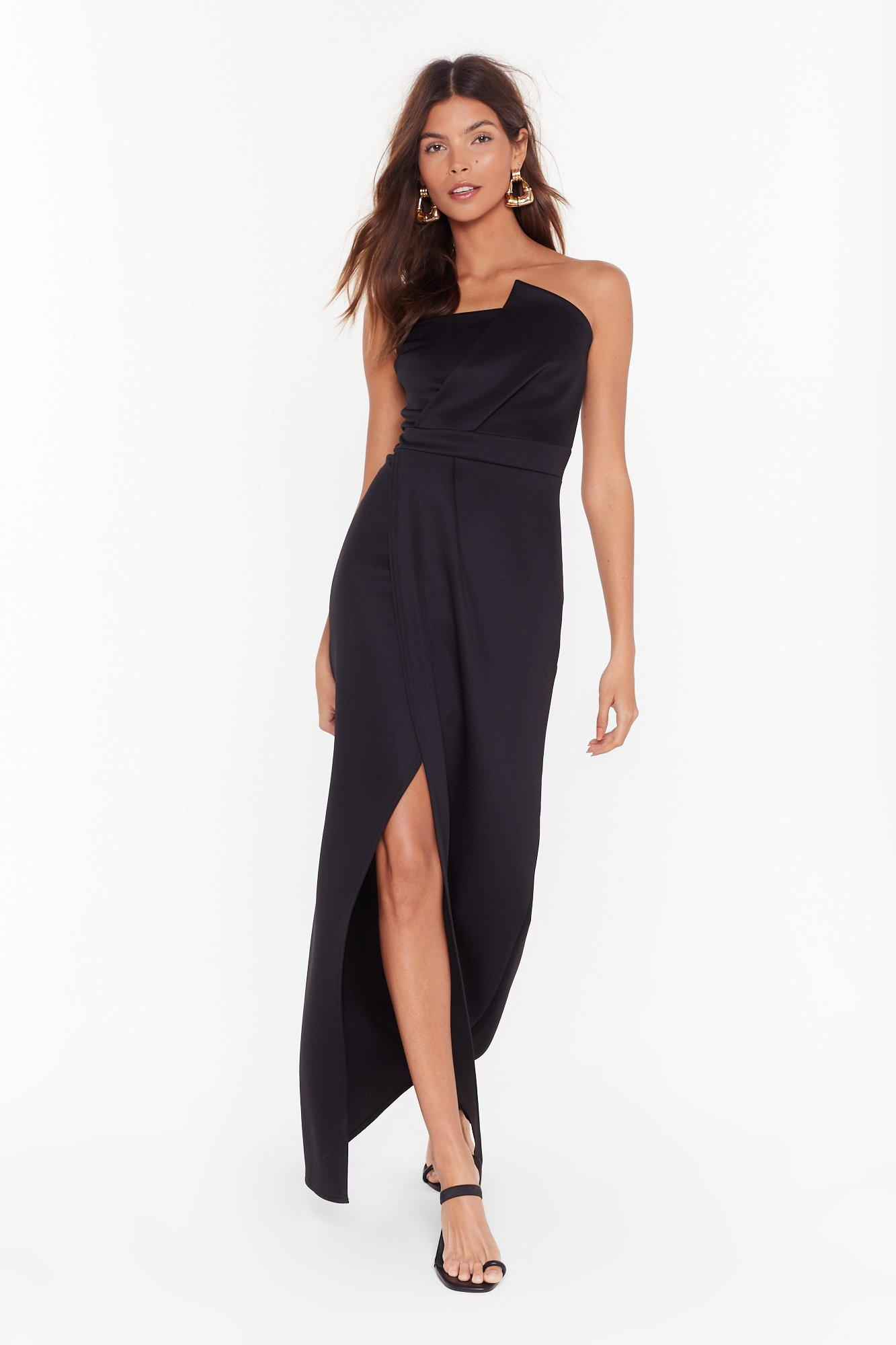 Image of A Night to Remember Strapless Maxi Dress