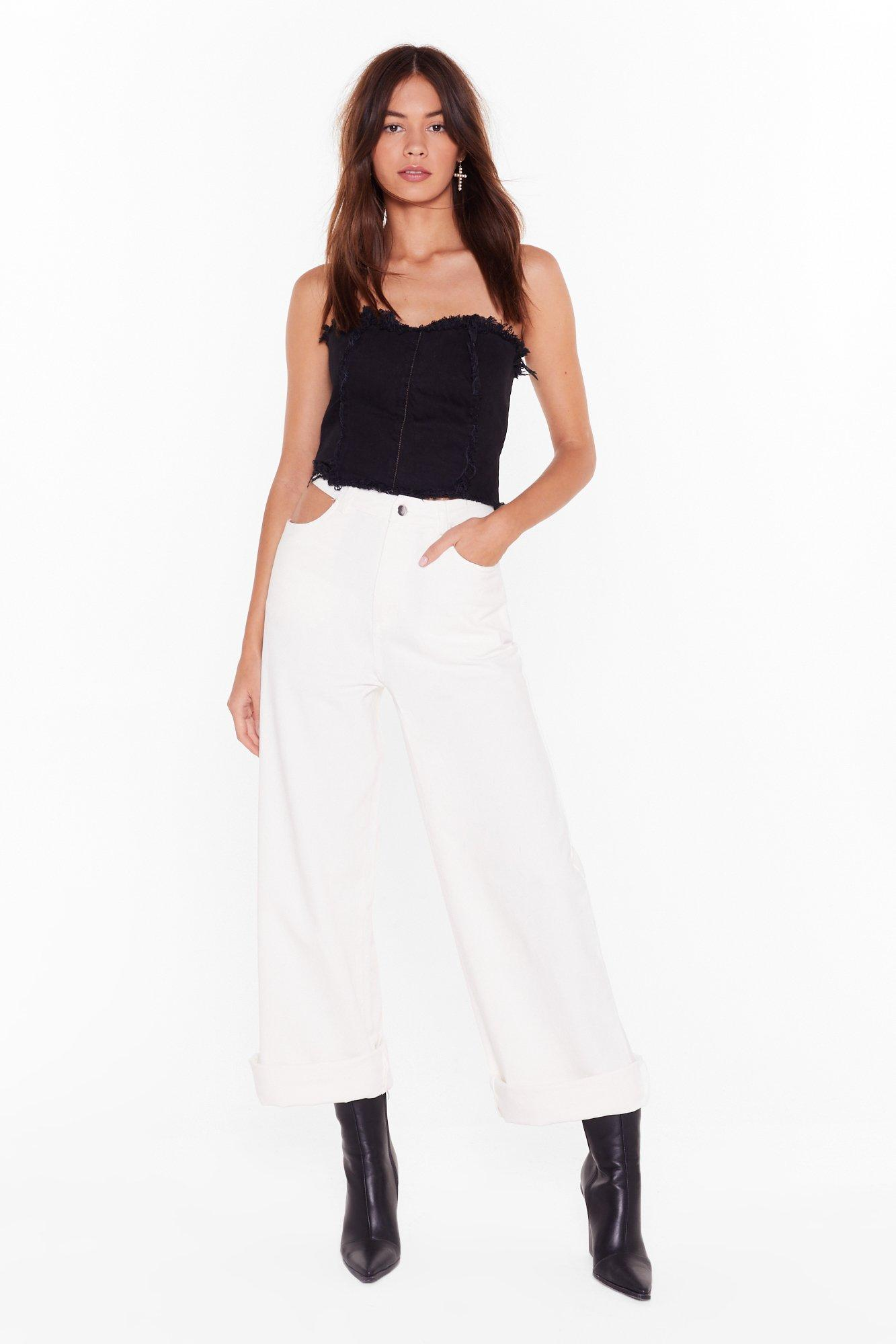 Image of Try It Cut-Out Wide-Leg Pants