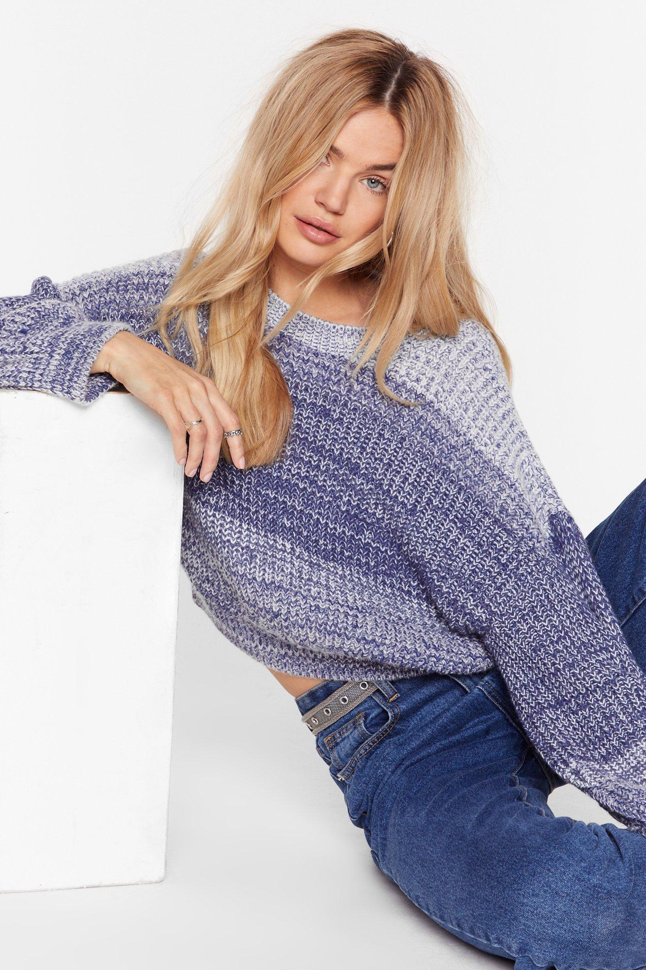 Image of Do Knit Anyway Marl Stripe Sweater
