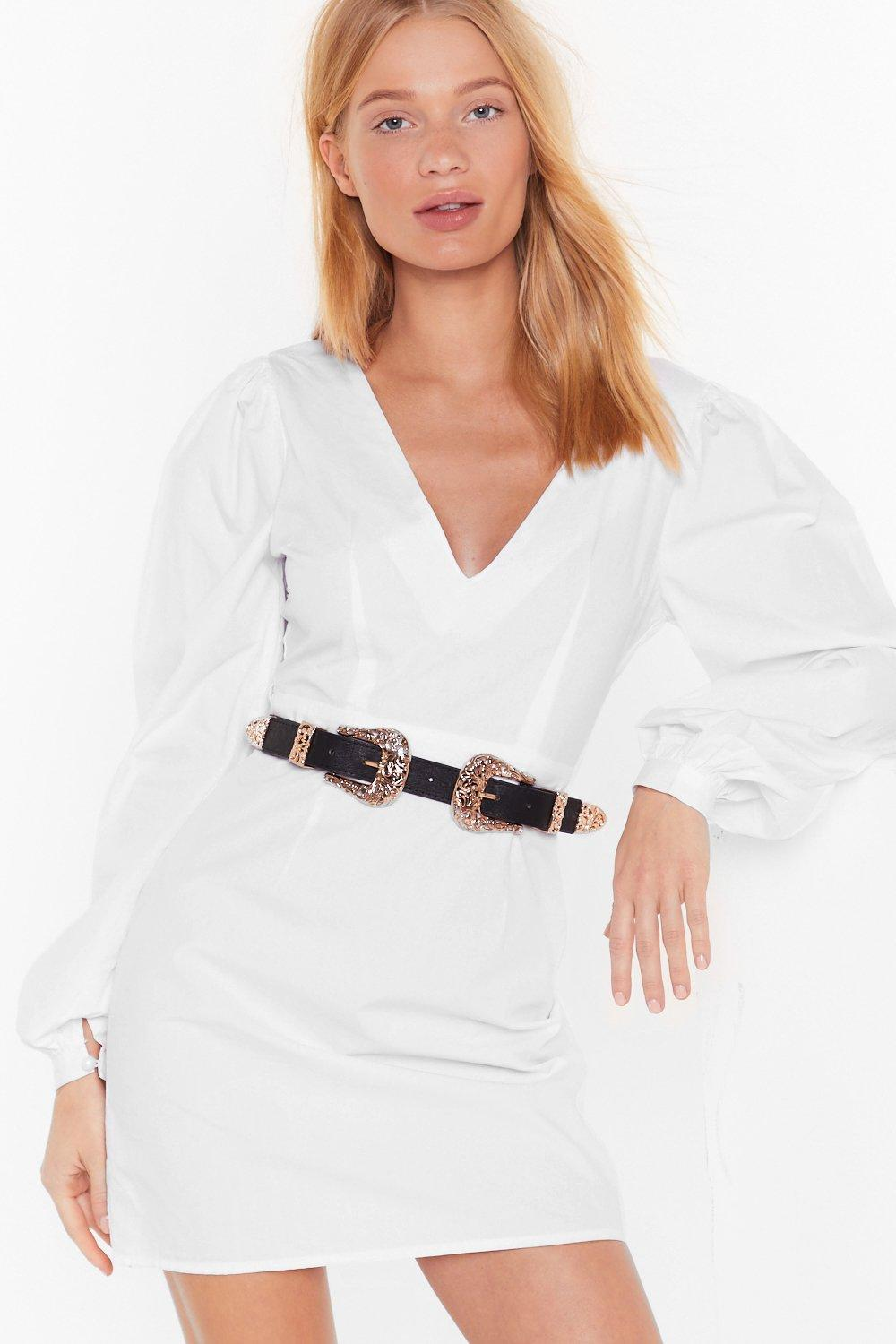 Image of Double Up Faux Leather Western Belt