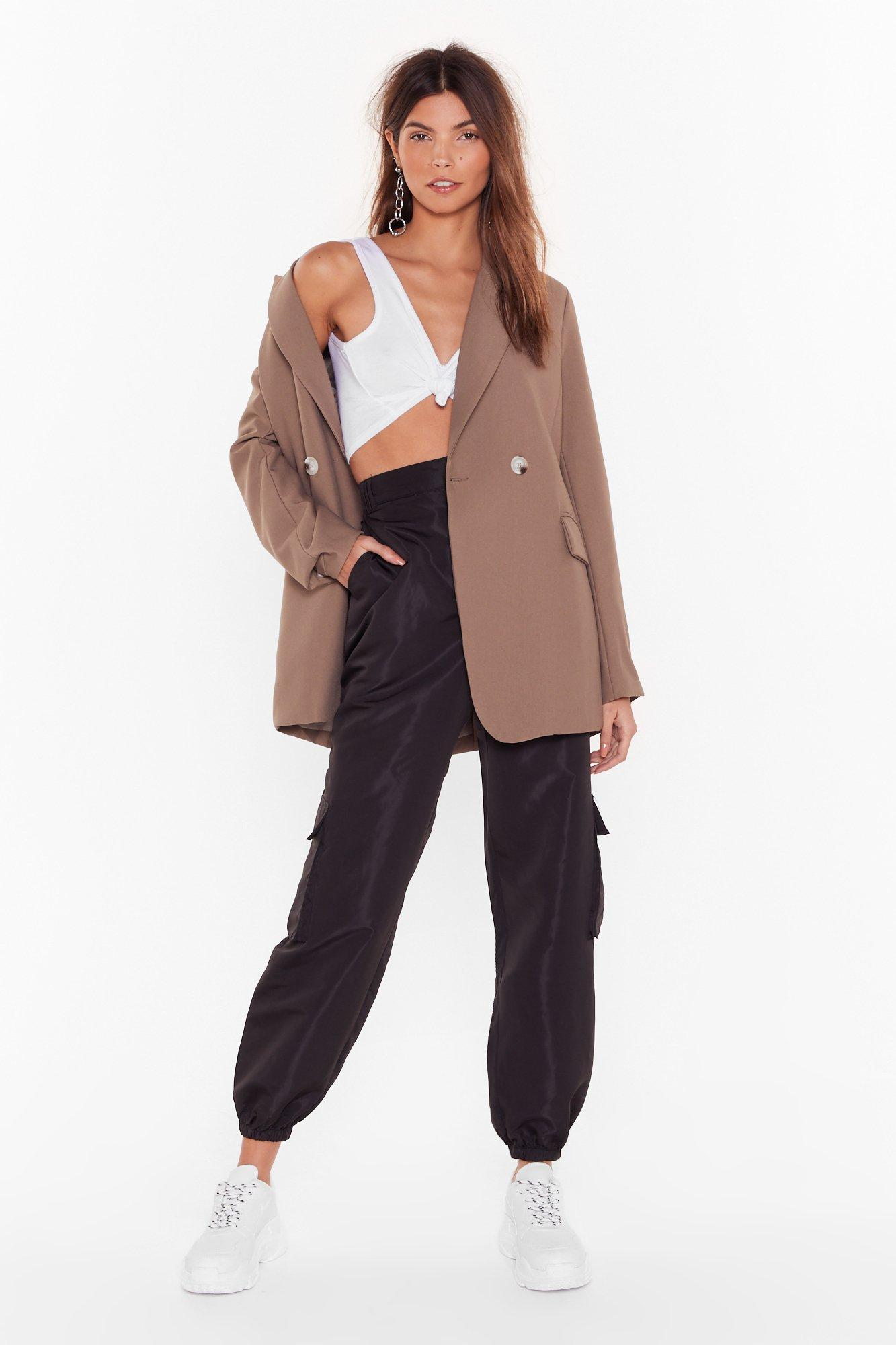 Image of Cargo For It High-Waisted Pants