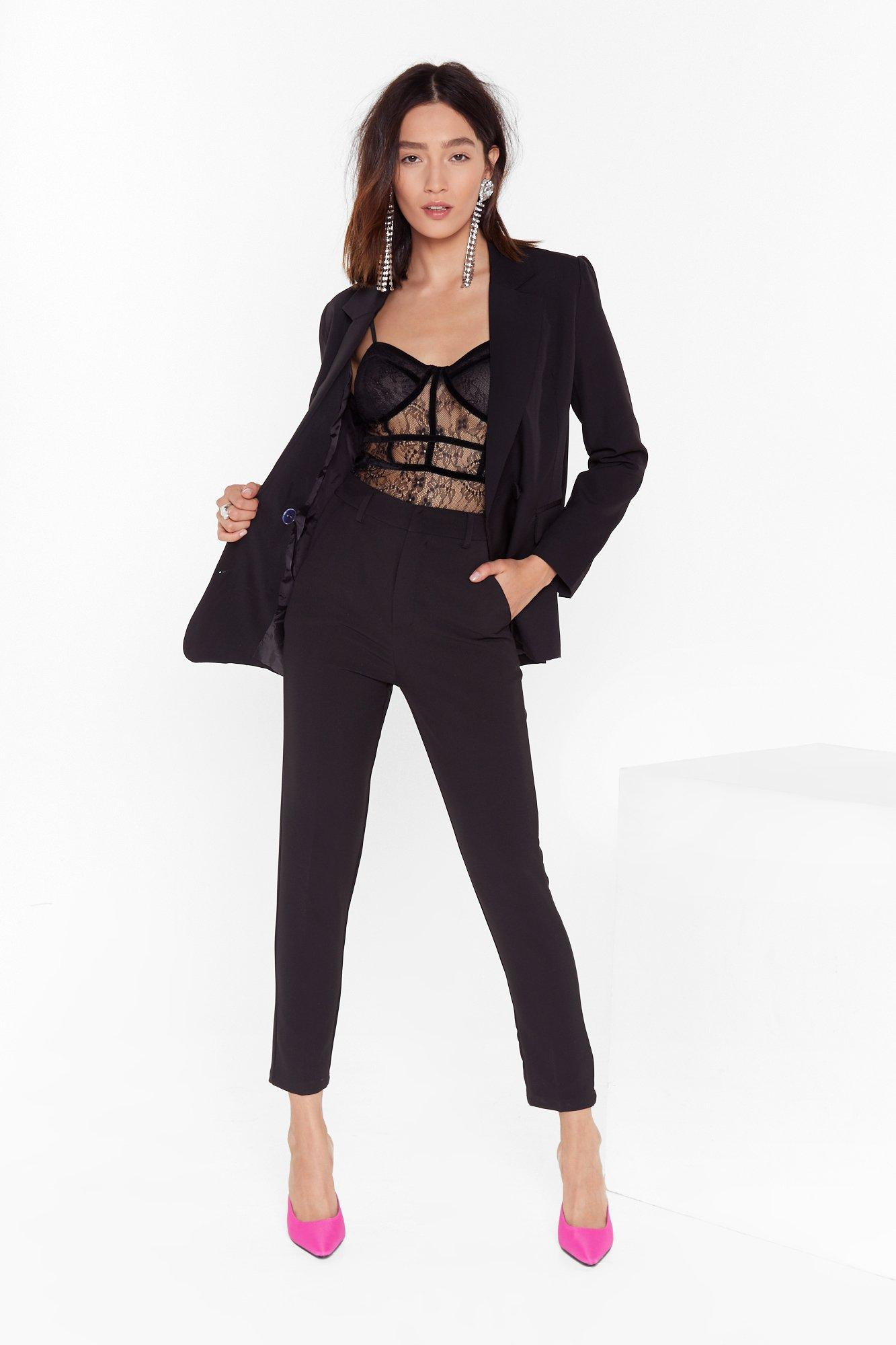 Image of Suit Up High-Waisted Pants