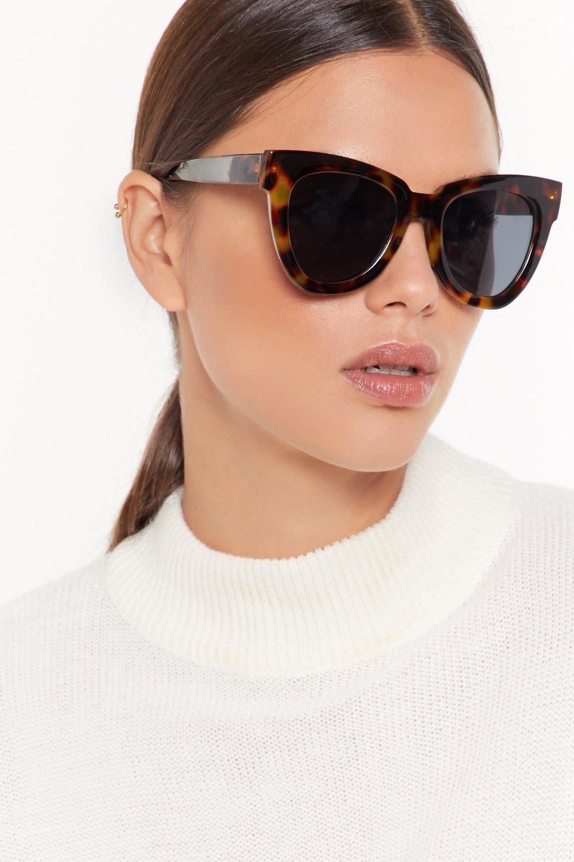 Image of Deep in Tort Oversized Cat-Eye Sunglasses