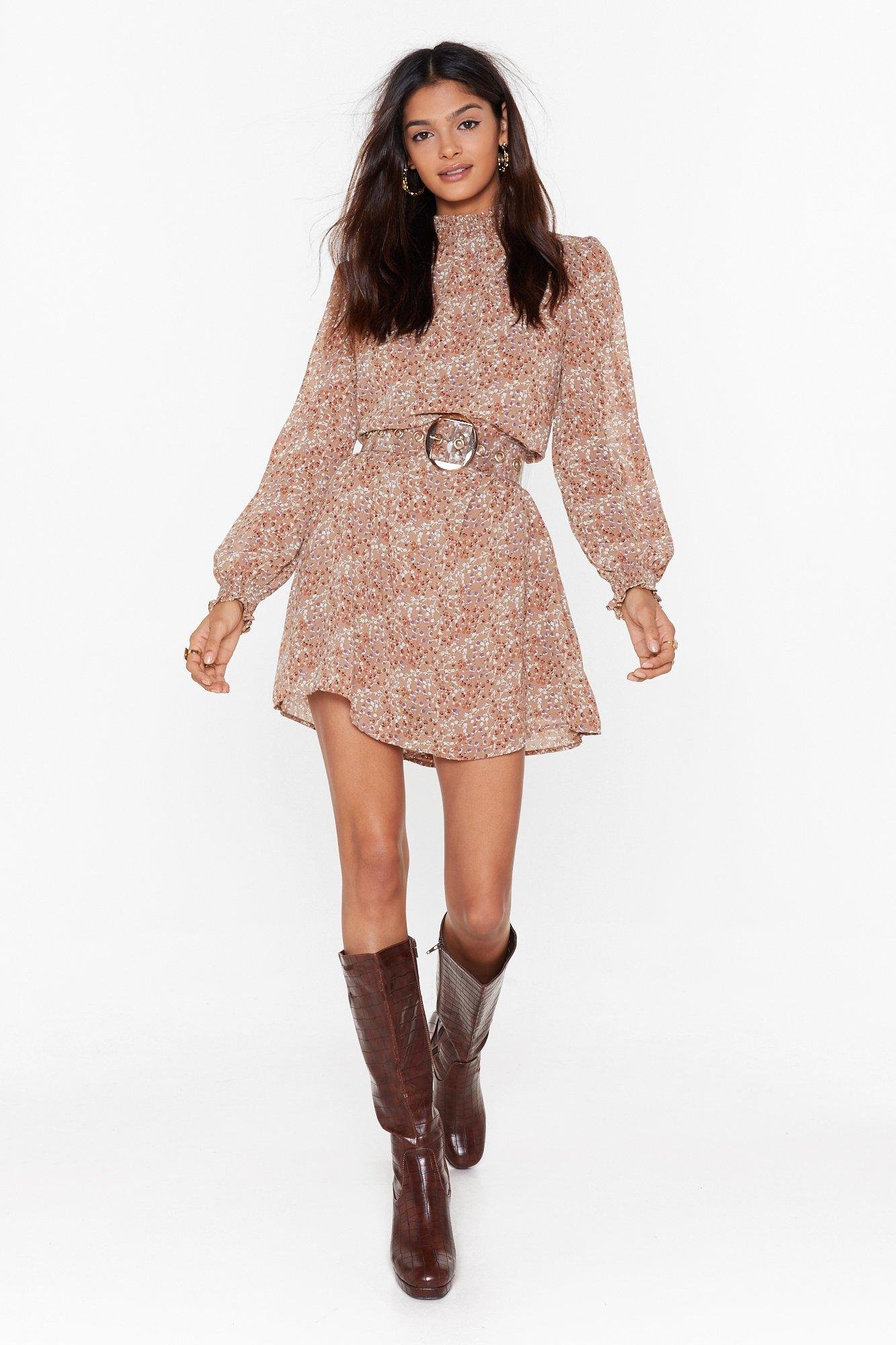 Image of Give It Your Petal Floral Mini Dress