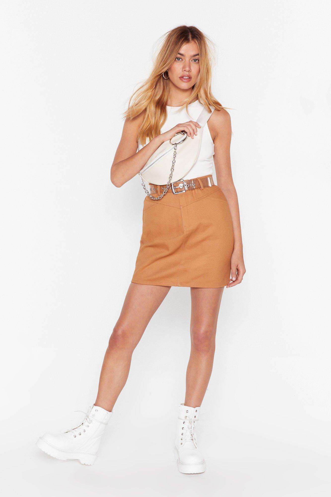 Image of A Little Denim Mini Skirt