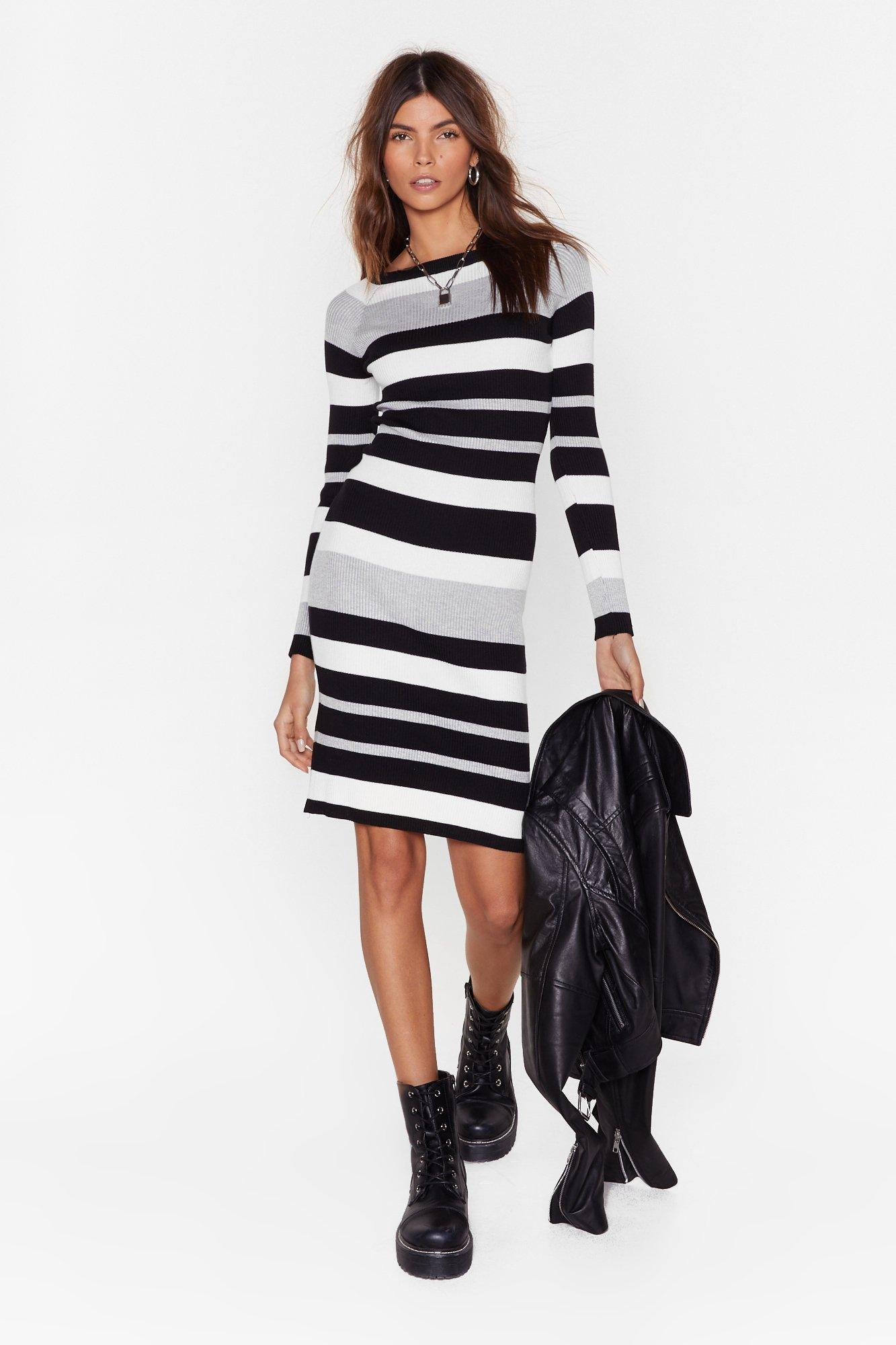 Image of On the Horizon Striped Knit Dress