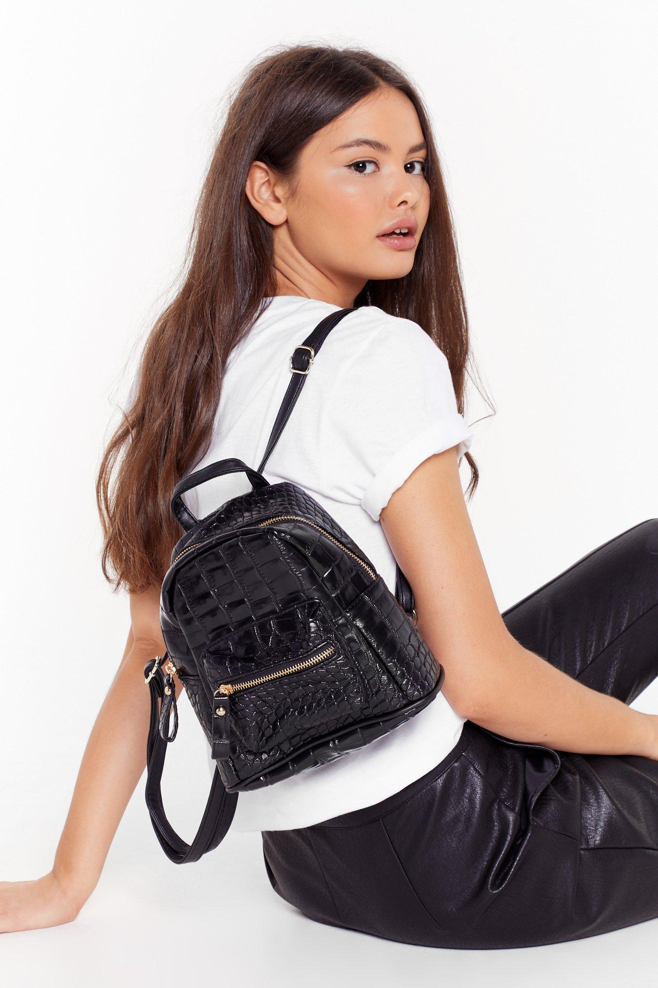 Image of WANT Just Can't Croc Faux Leather Backpack