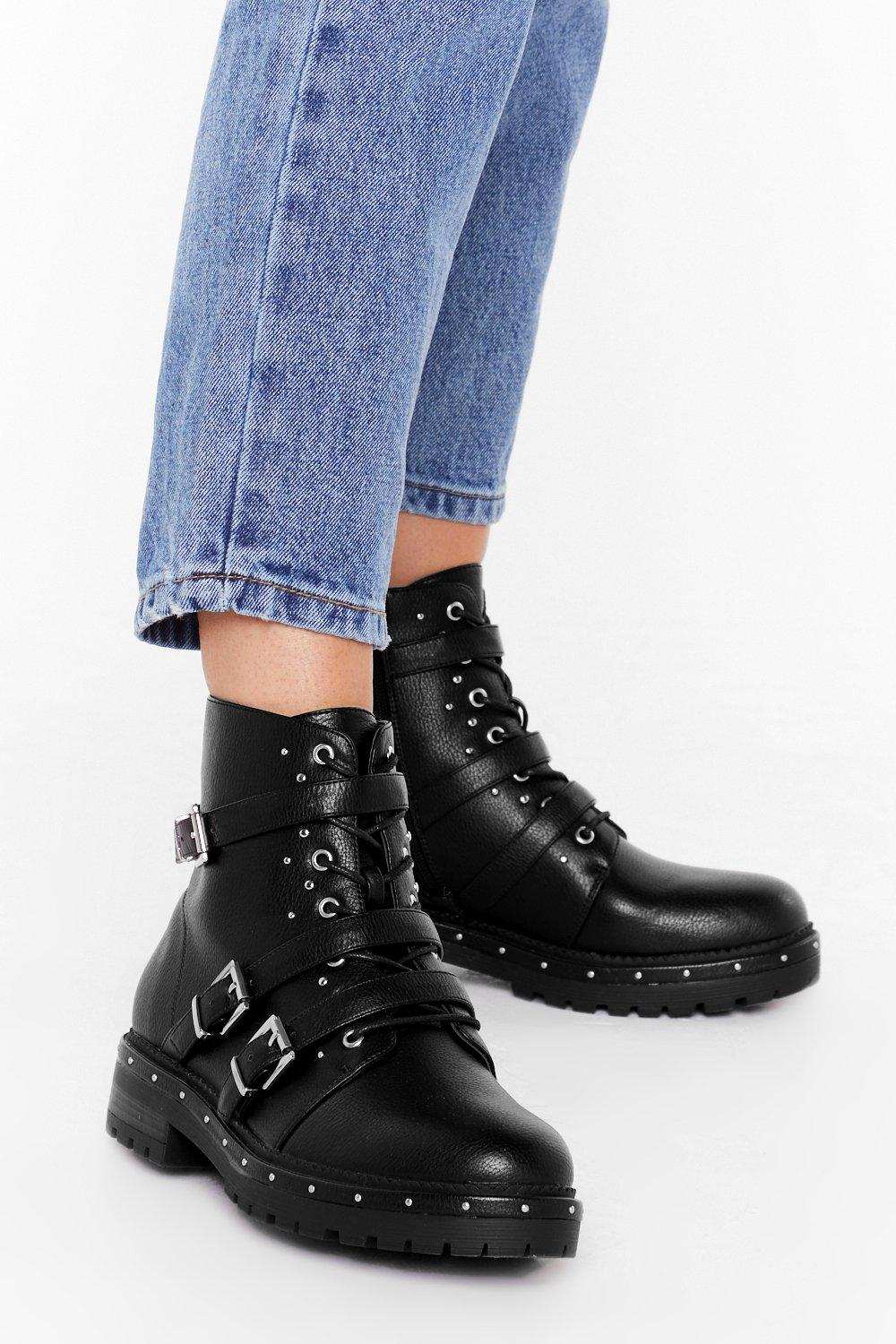 Image of Buck 'Em All Faux Leather Boots