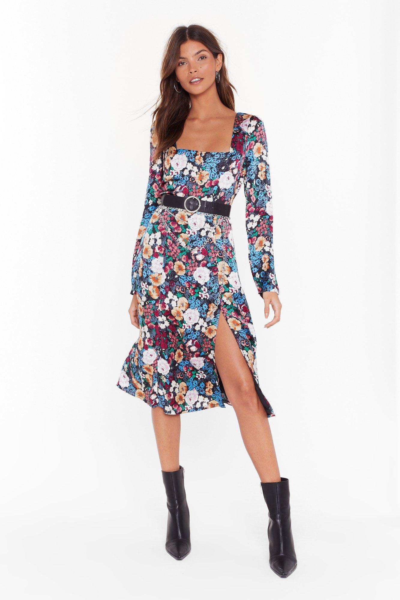 Image of Best Buds Floral Midi Dress